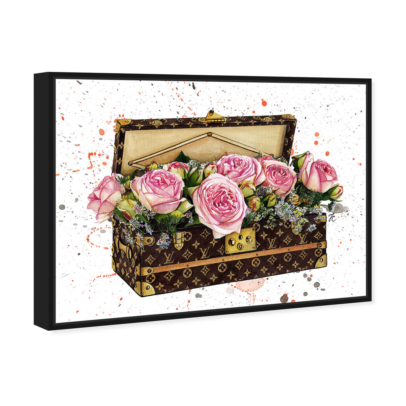 Angled view of Doll Memories - Trunk of Roses featuring fashion and glam and travel essentials art.