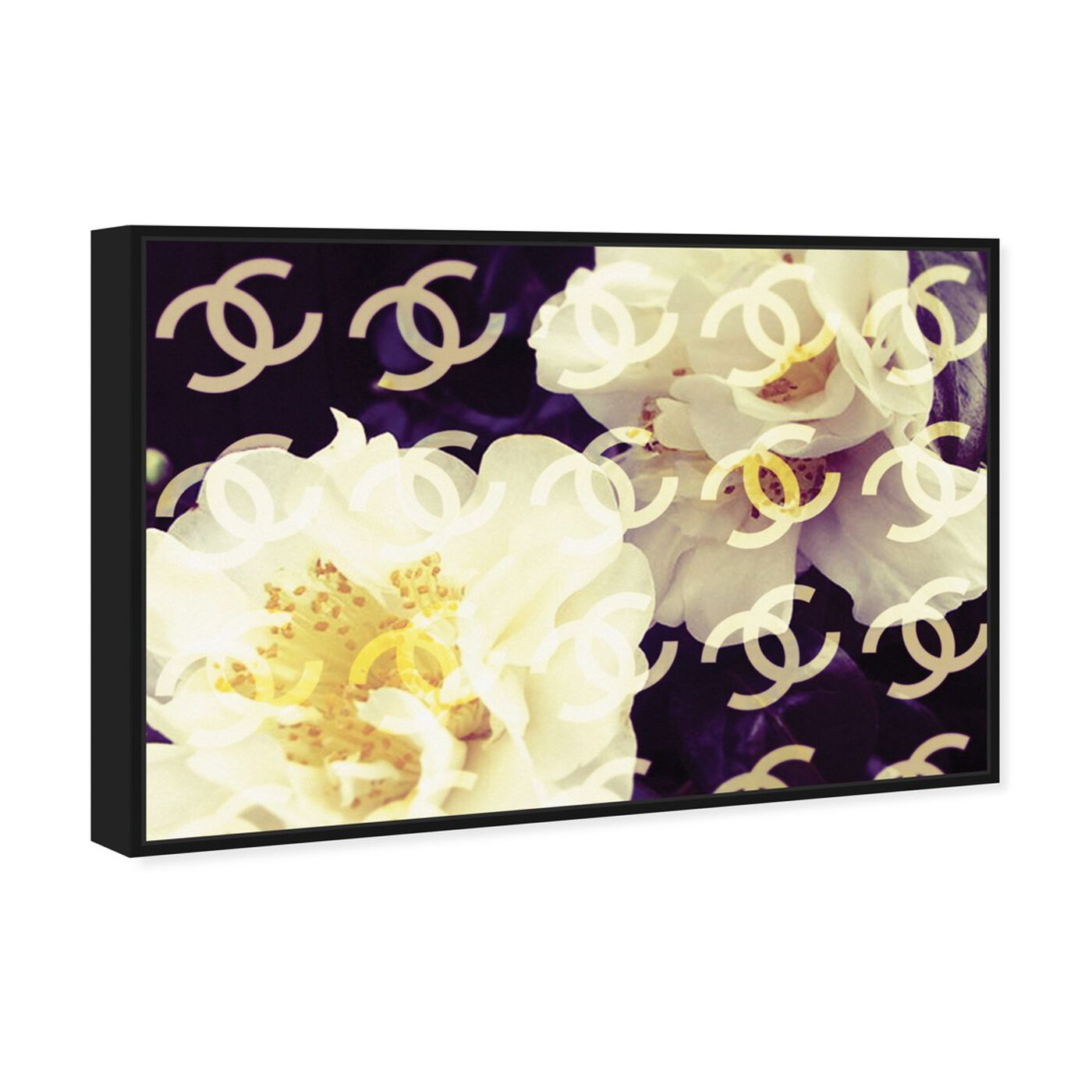 Angled view of Coco's Camellia Vanilla featuring floral and botanical and florals art.