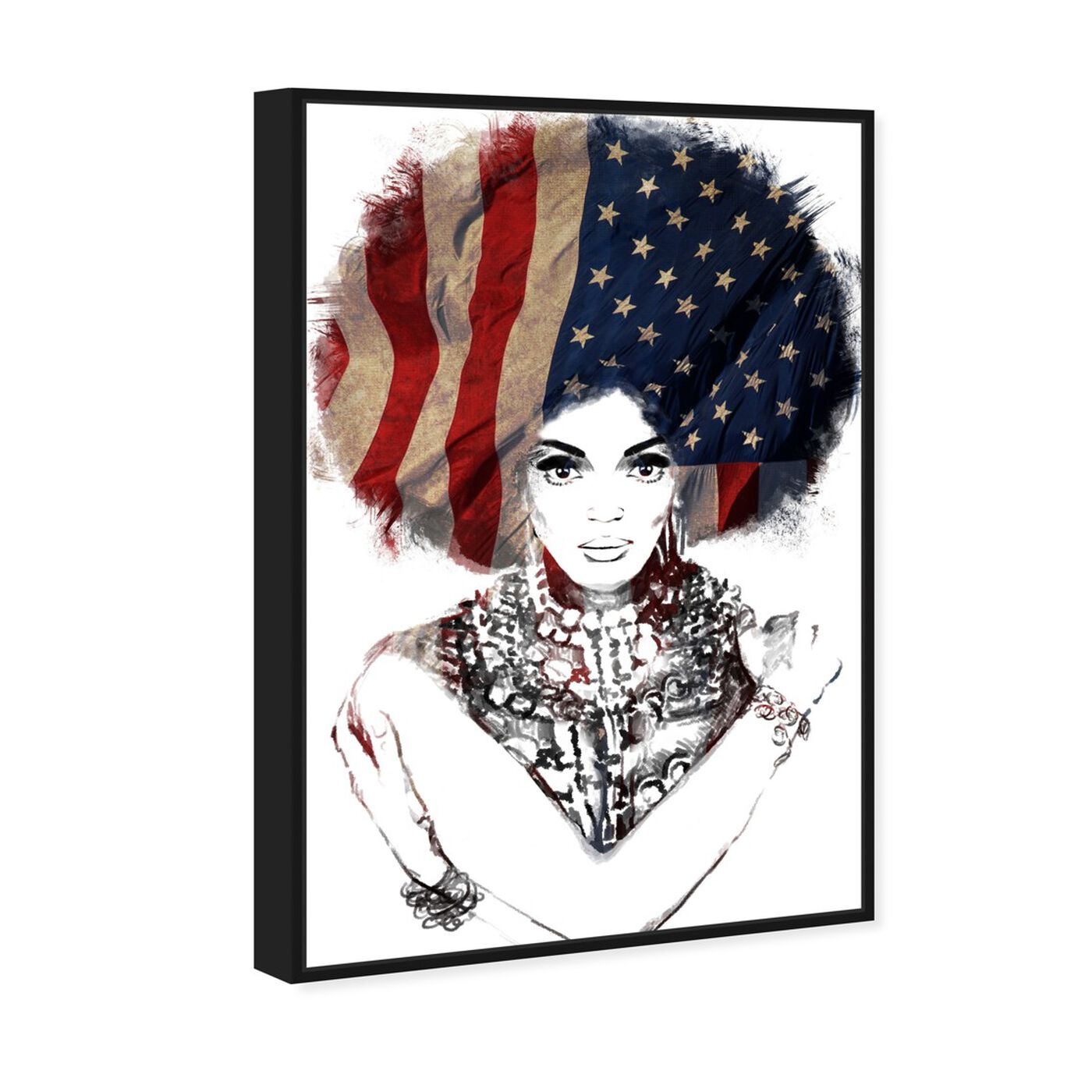 Angled view of New American Woman featuring people and portraits and portraits art.