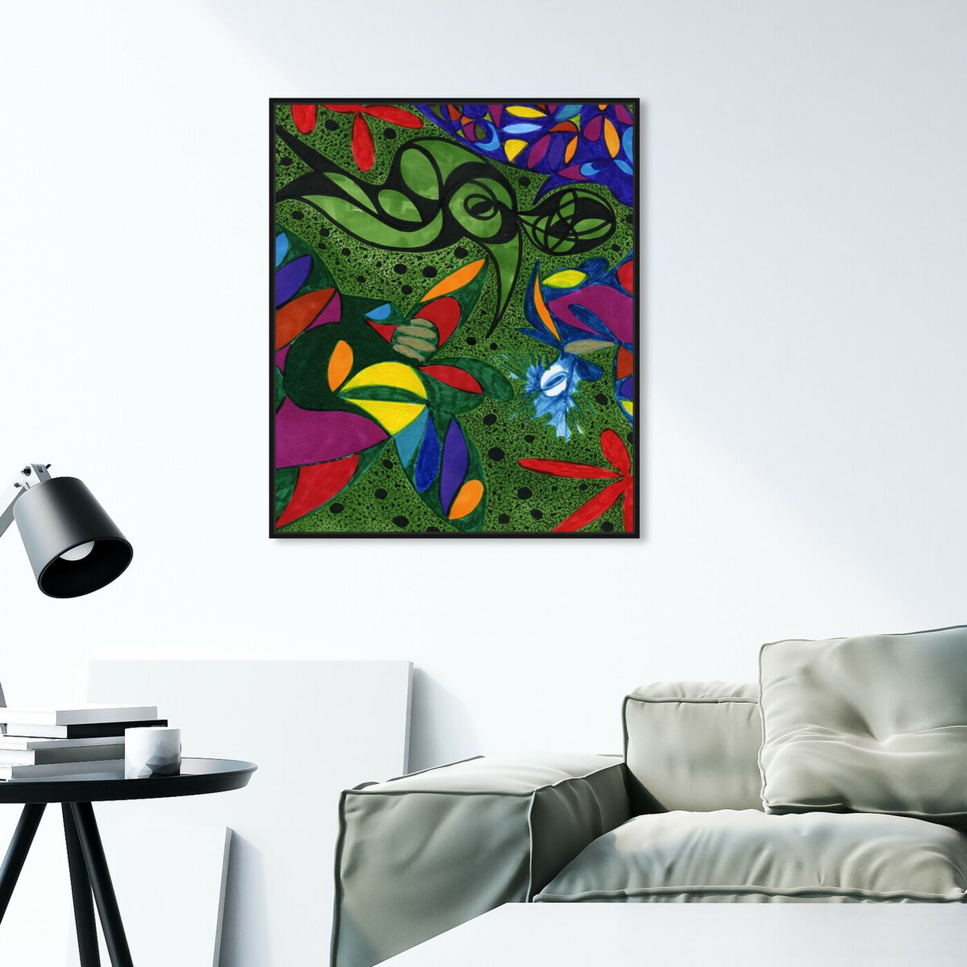 Hanging view of Beneath The Mangroves featuring abstract and shapes art.