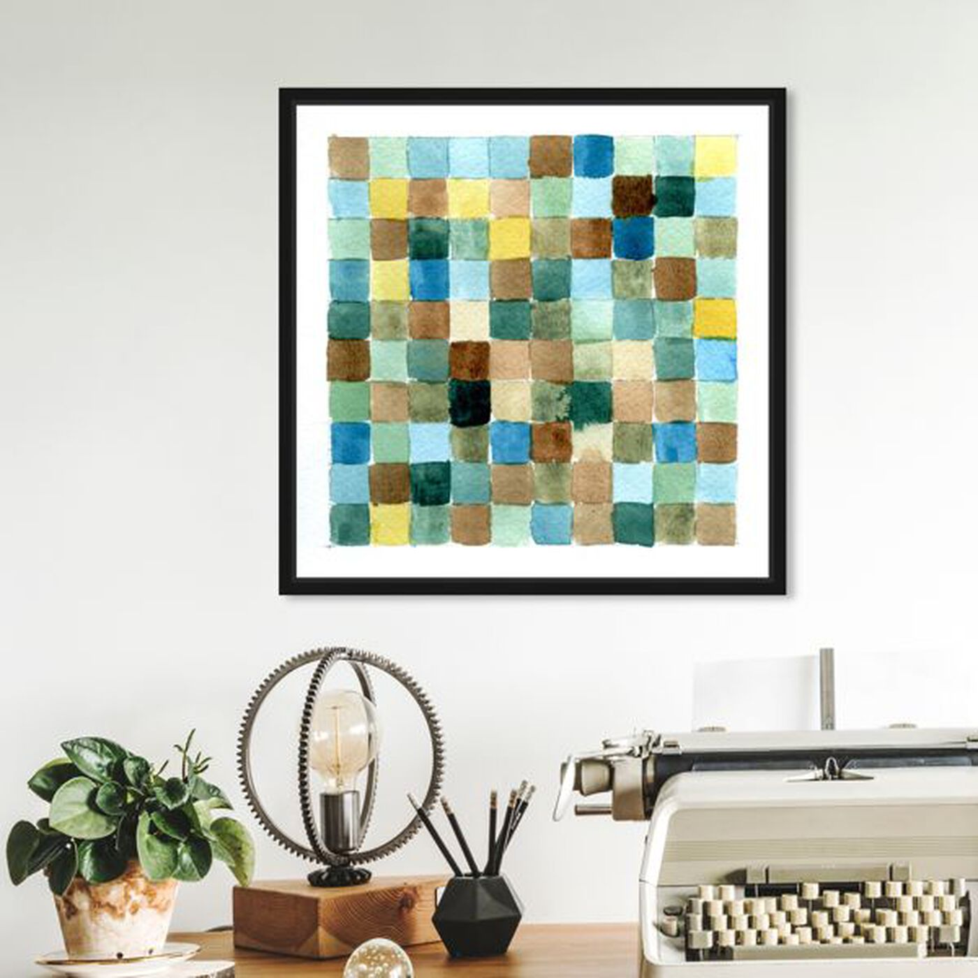 Hanging view of Quadratum Ad Oceanum featuring abstract and geometric art.
