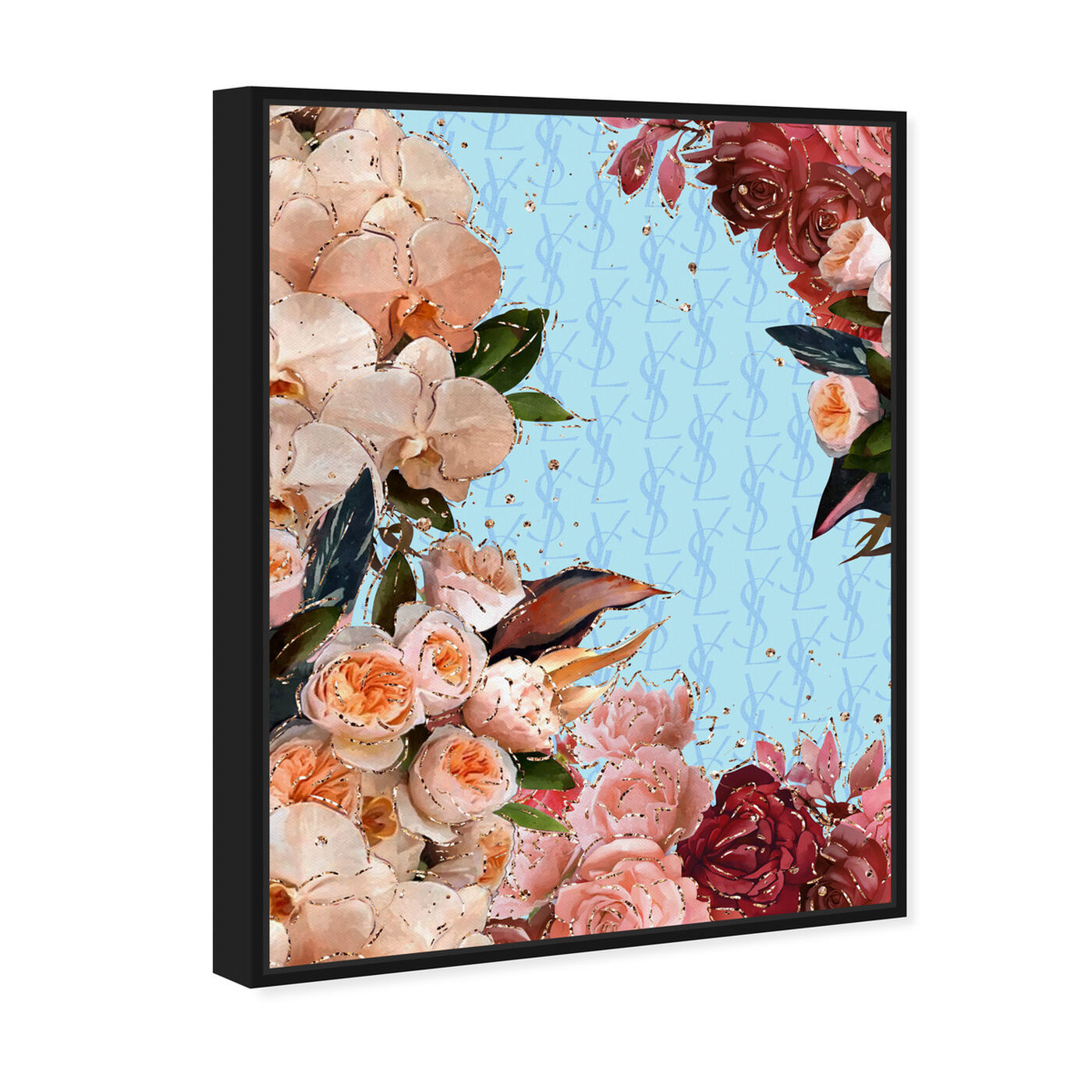 Angled view of Classic Floral Fashion featuring floral and botanical and florals art.