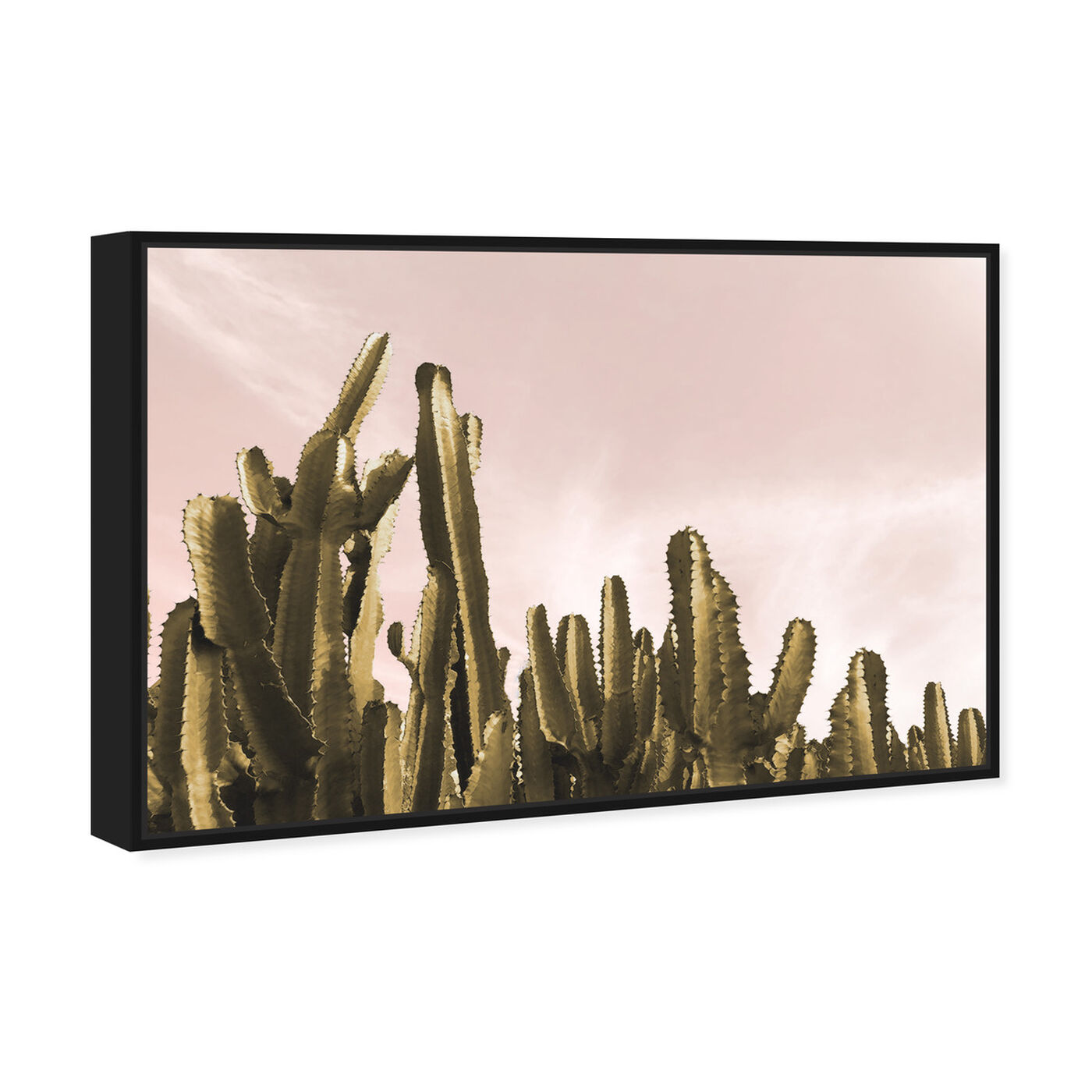 Angled view of Dream Landscape Cactus featuring floral and botanical and botanicals art.