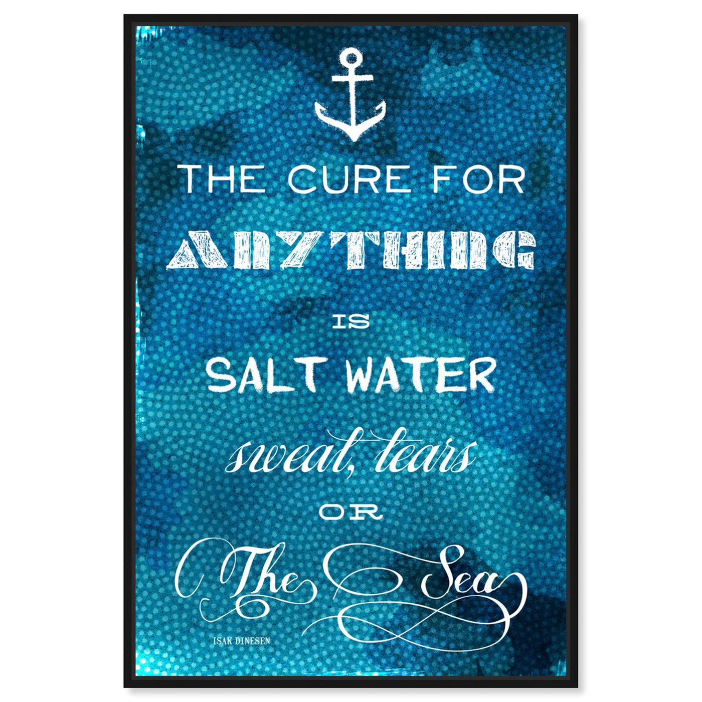 Front view of The Cure Quote featuring nautical and coastal and coastal art.