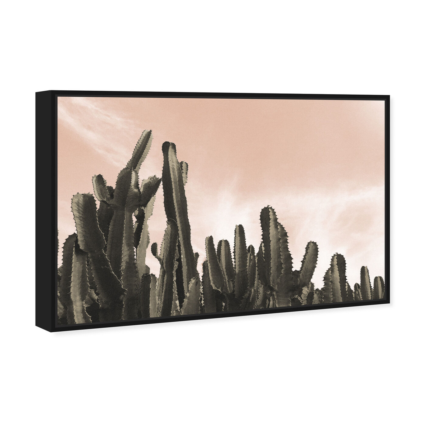 Angled view of Dream Landscape Cactus Desert featuring floral and botanical and botanicals art.