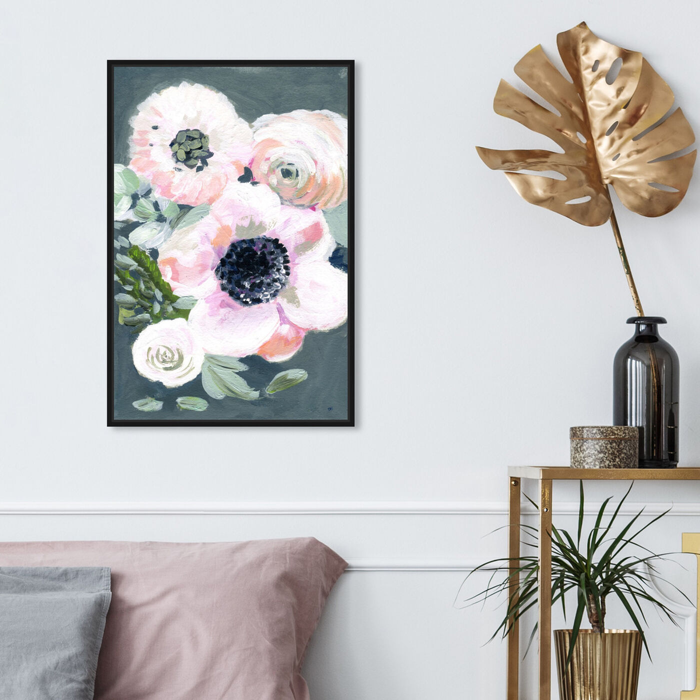 Hanging view of Vintage Gathers featuring floral and botanical and florals art.