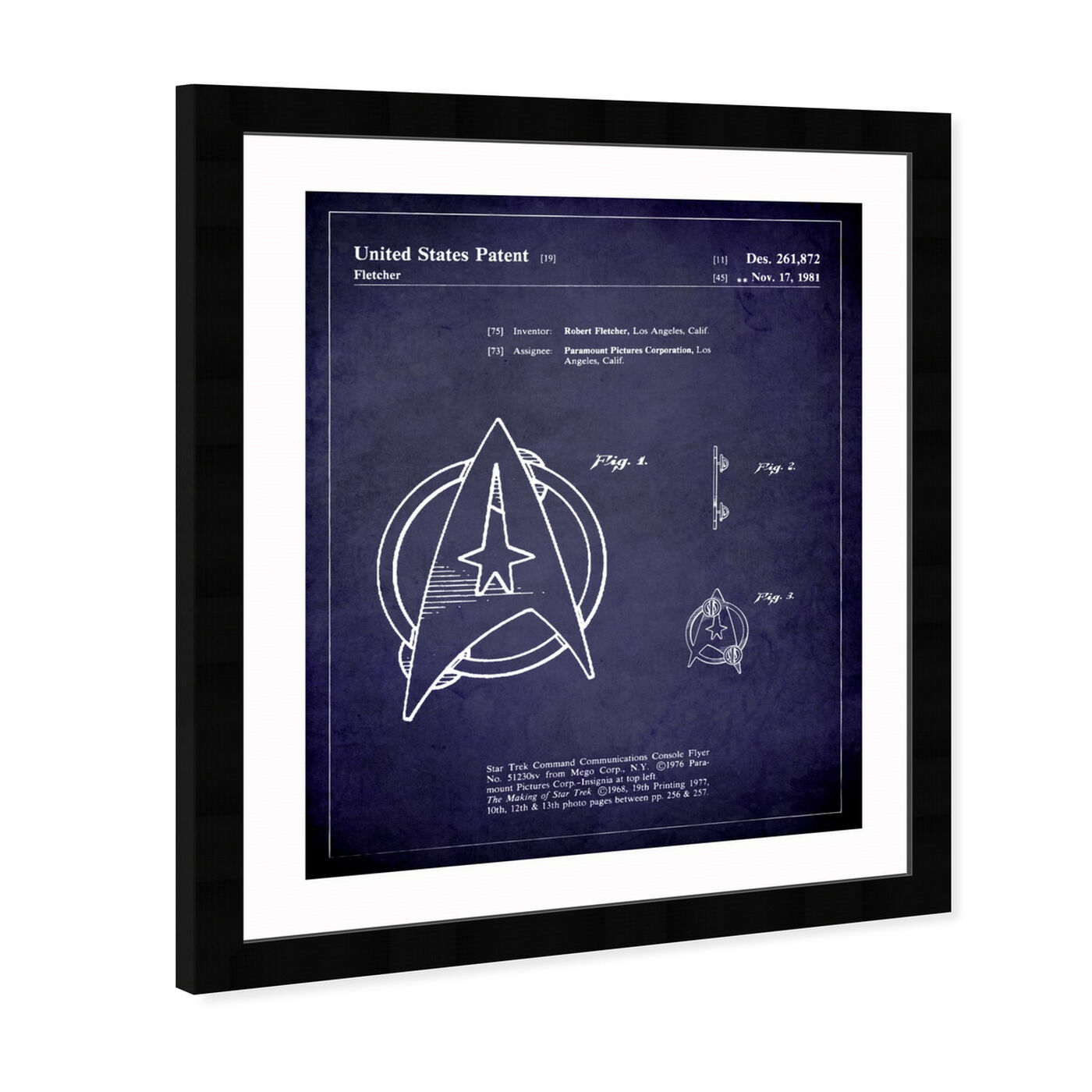 Angled view of Starfleet Insignia 1981 II featuring symbols and objects and toys art.