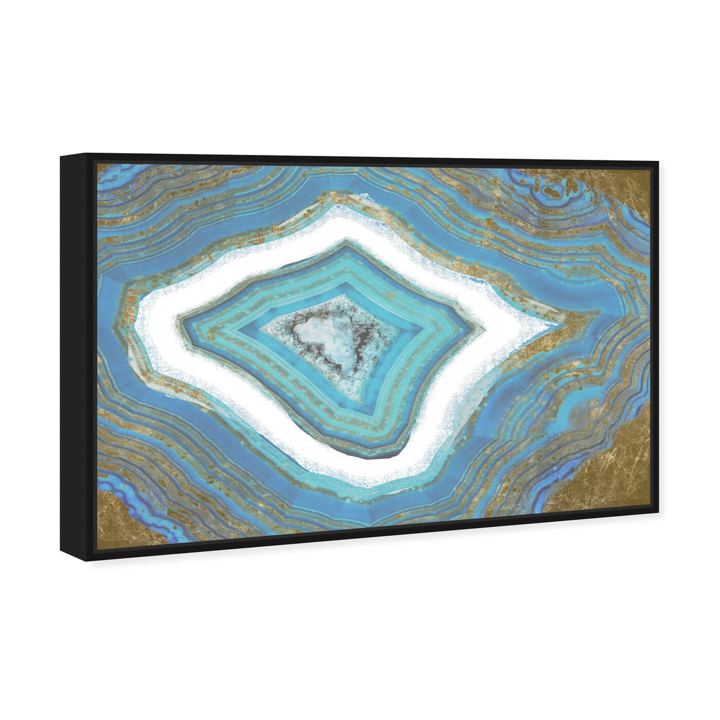 Angled view of Rochester Geode featuring abstract and crystals art.