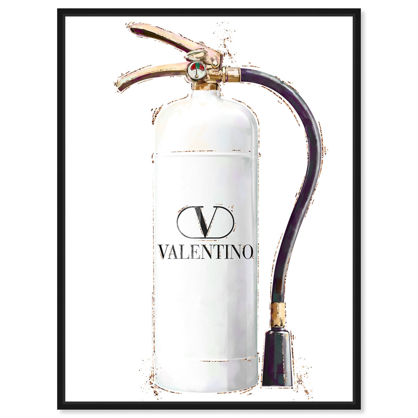 Front view of White Extinguisher featuring fashion and glam and lifestyle art.
