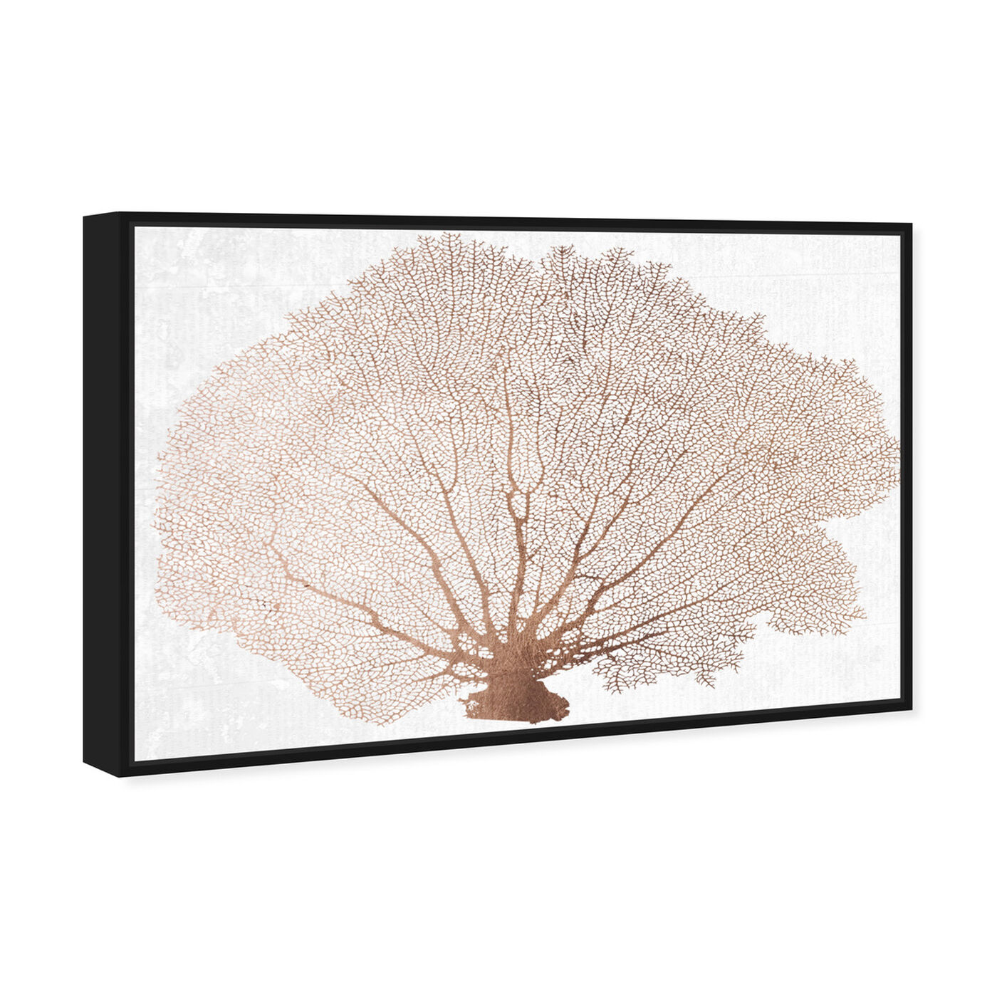 Angled view of Copper Coral Fan featuring nautical and coastal and marine life art.