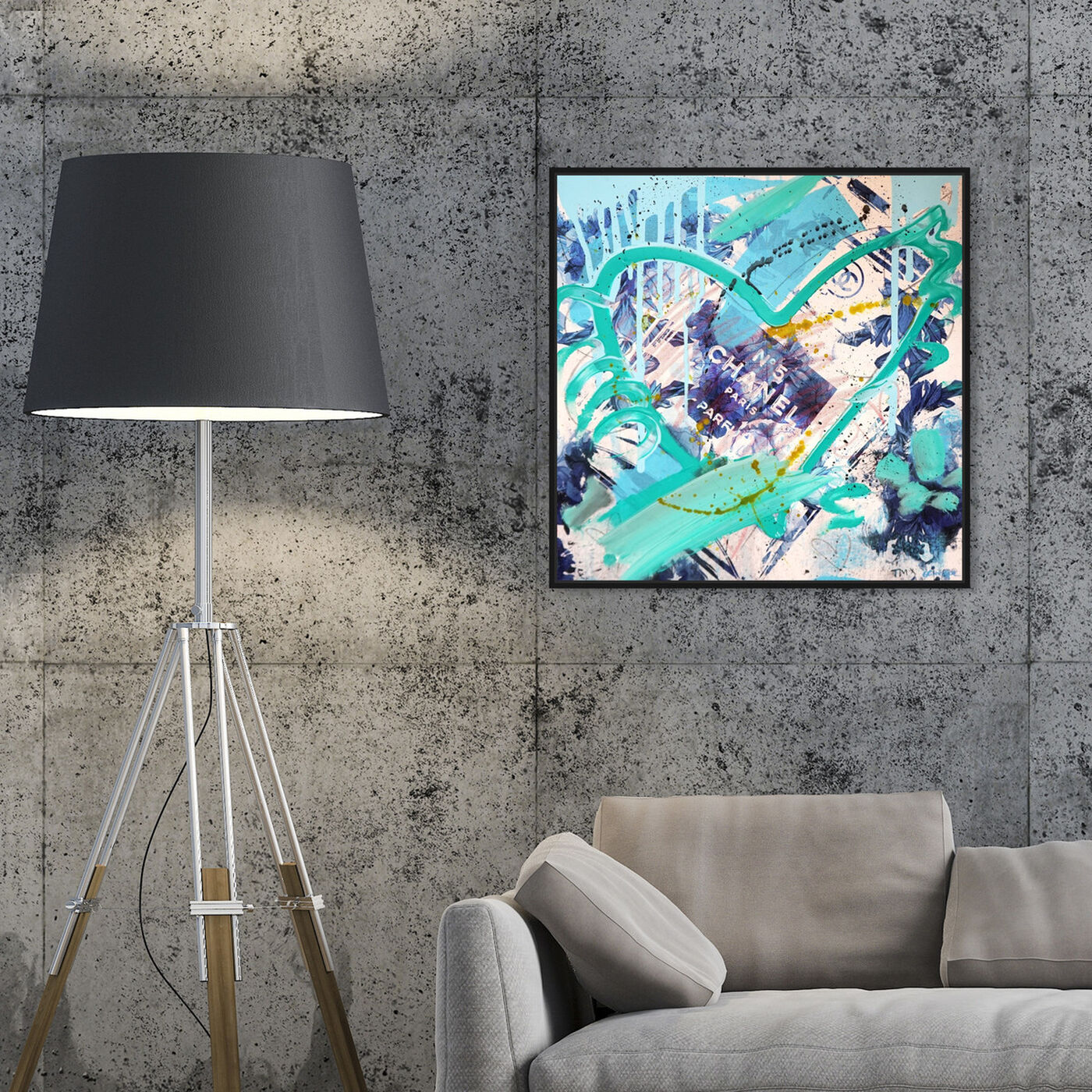 Hanging view of Blue Flower Scent Remix by Tiago Magro featuring fashion and glam and perfumes art.