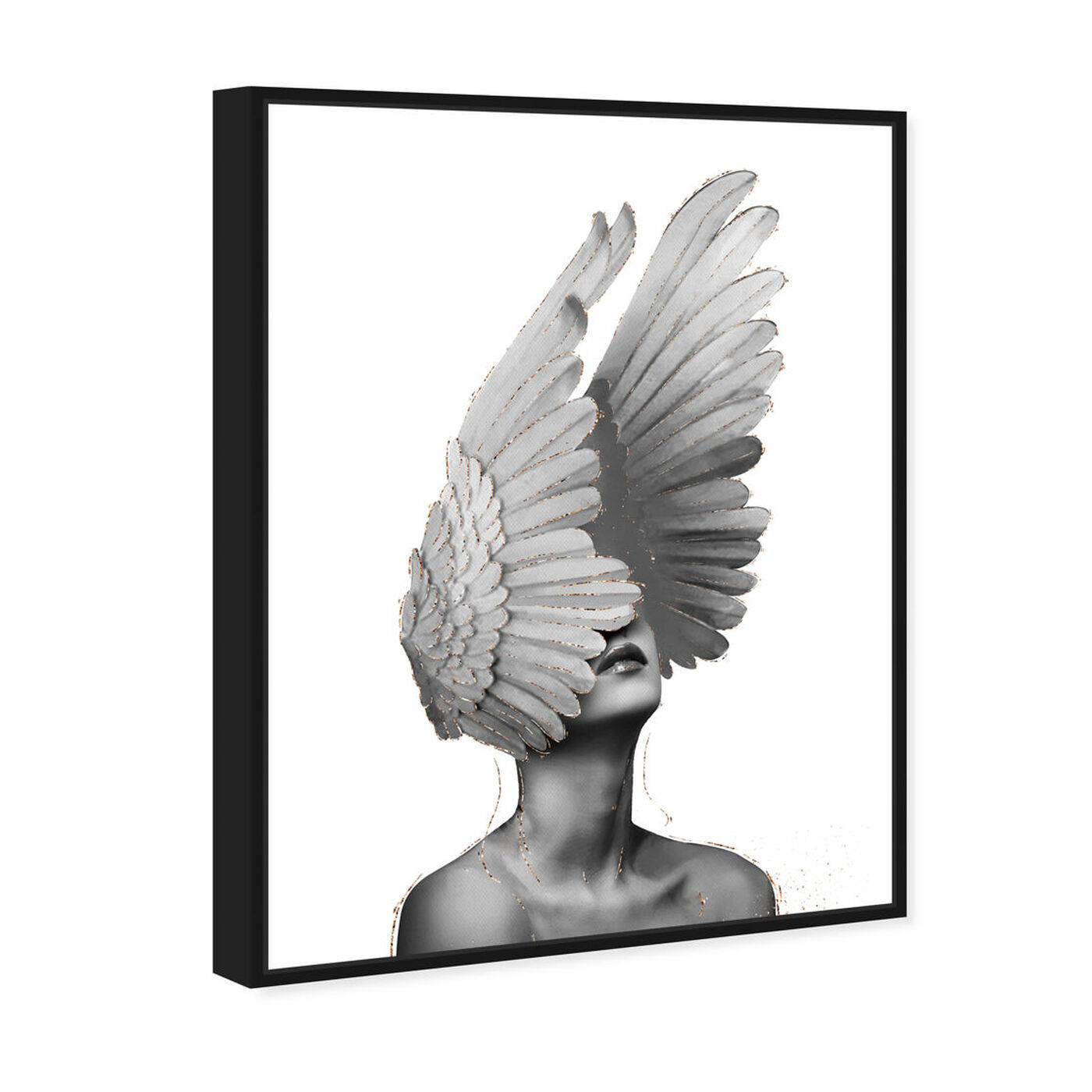 Angled view of Spread Your Wings featuring fashion and glam and feathers art.