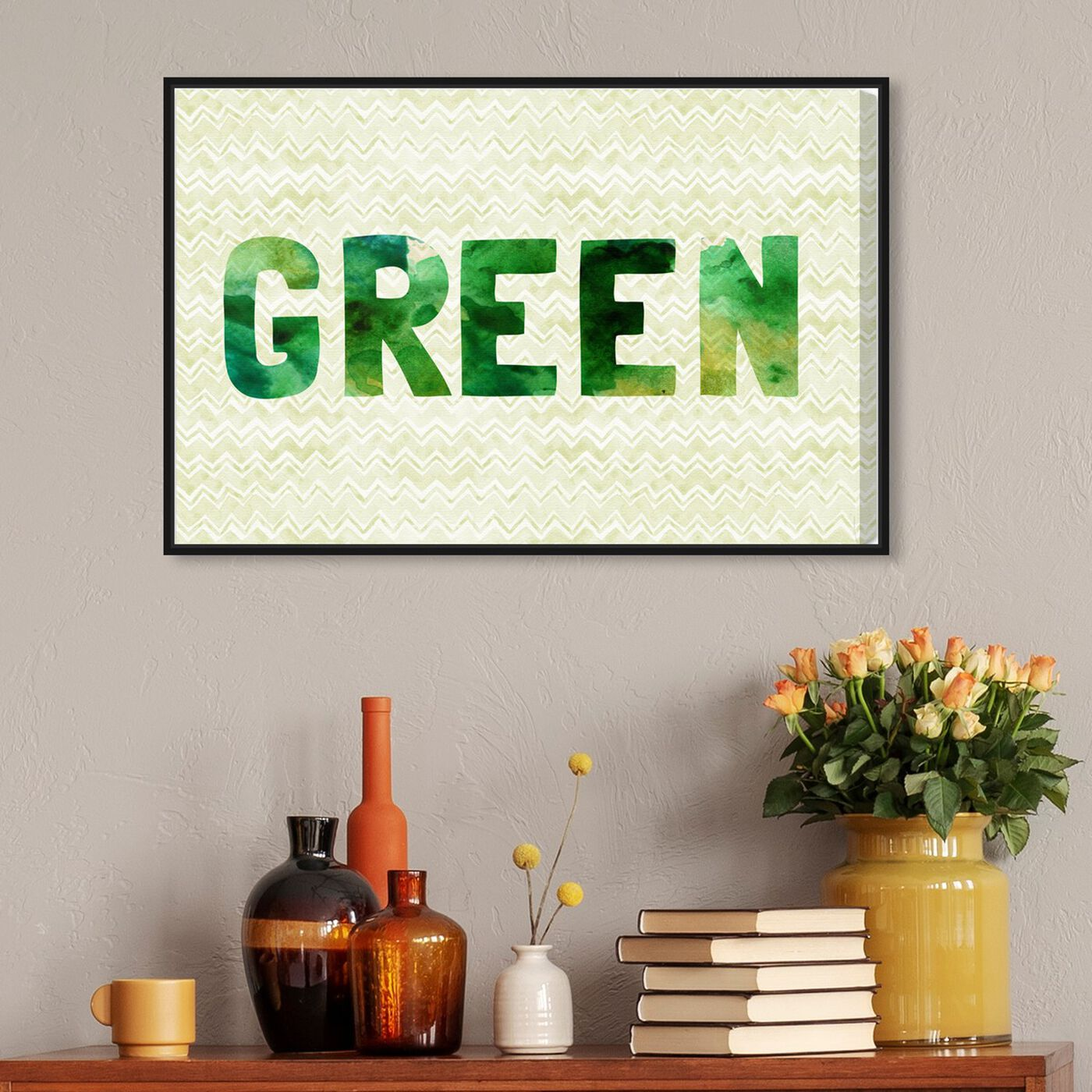 Hanging view of Green featuring typography and quotes and quotes and sayings art.