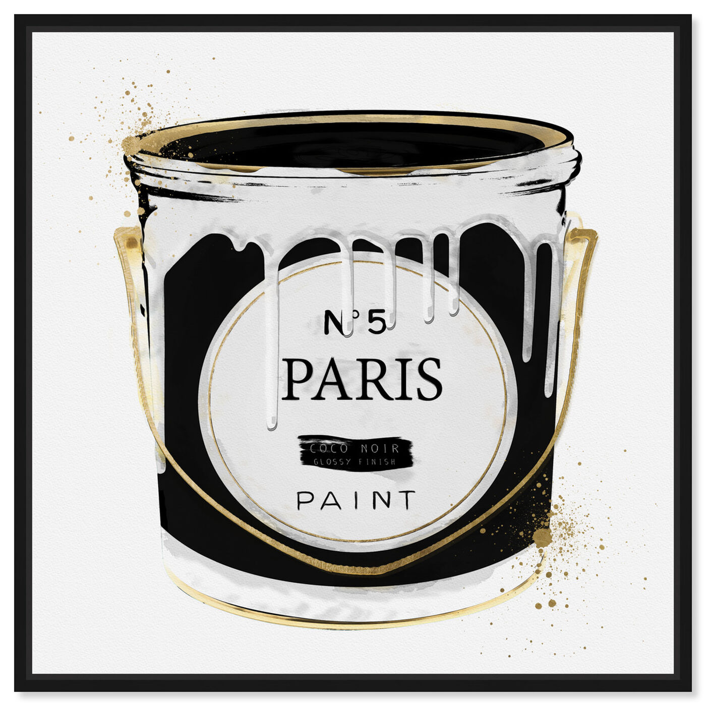 Front view of Paris Fashion Paint featuring fashion and glam and cans art.