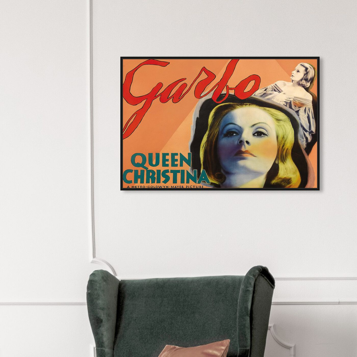 Hanging view of Garbo featuring advertising and posters art.