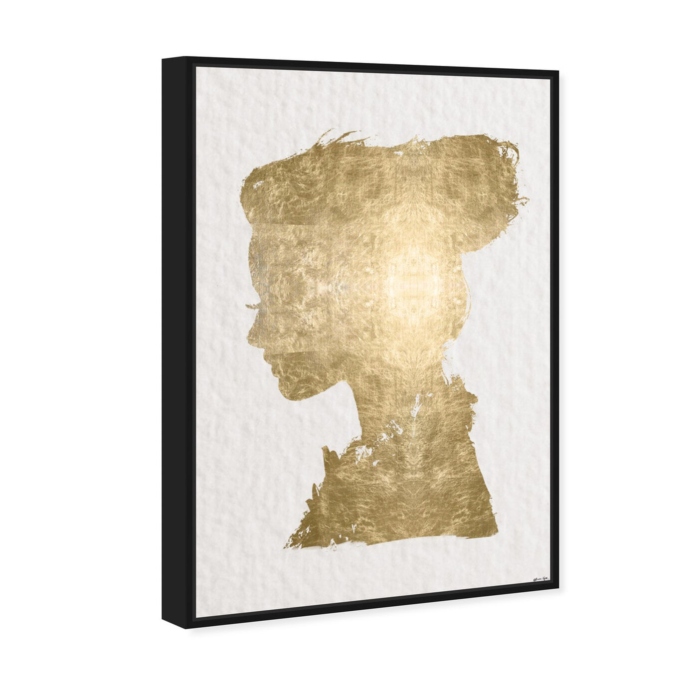 Angled view of Beaute In Gold featuring fashion and glam and portraits art.
