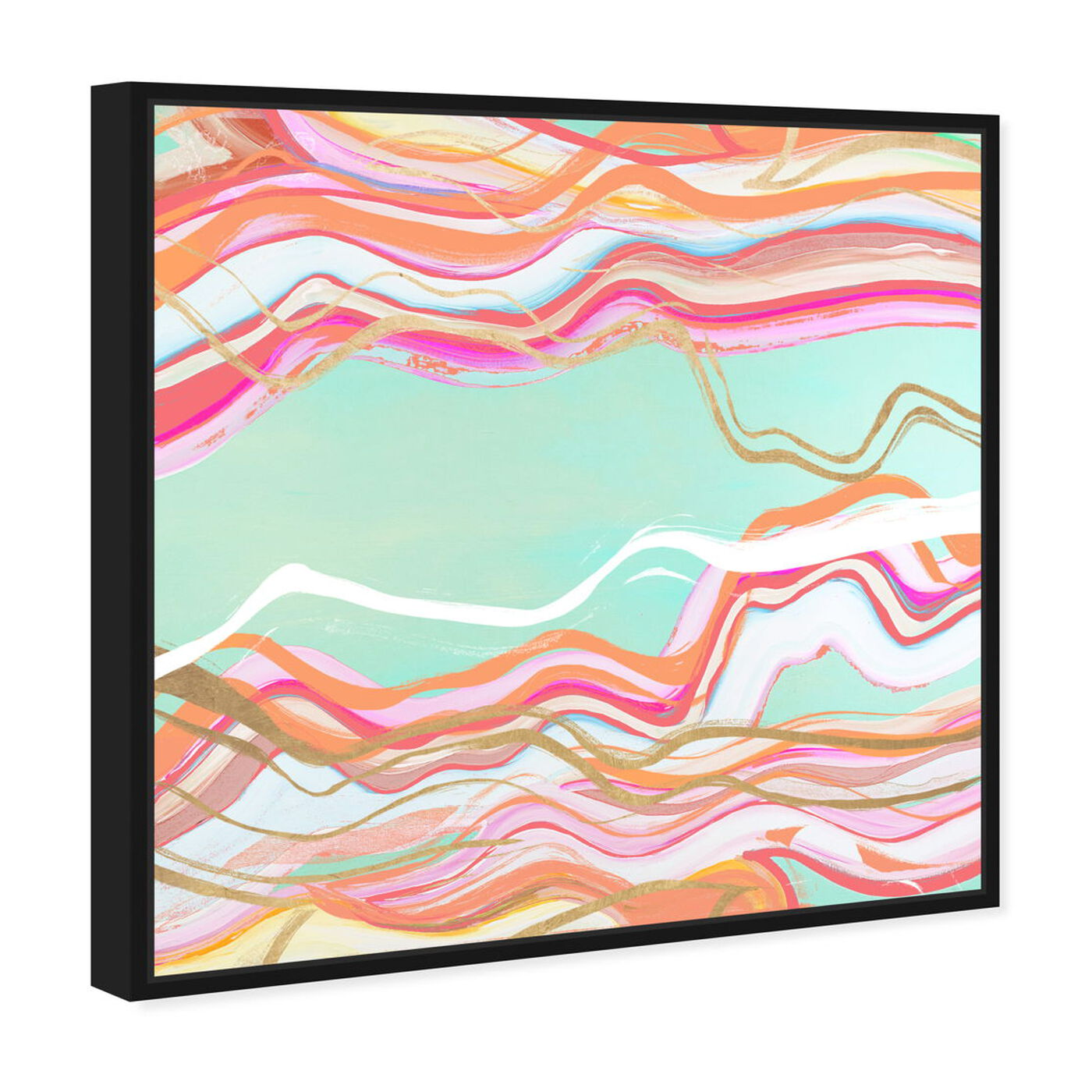 Angled view of Choose Happiness Flow featuring abstract and shapes art.