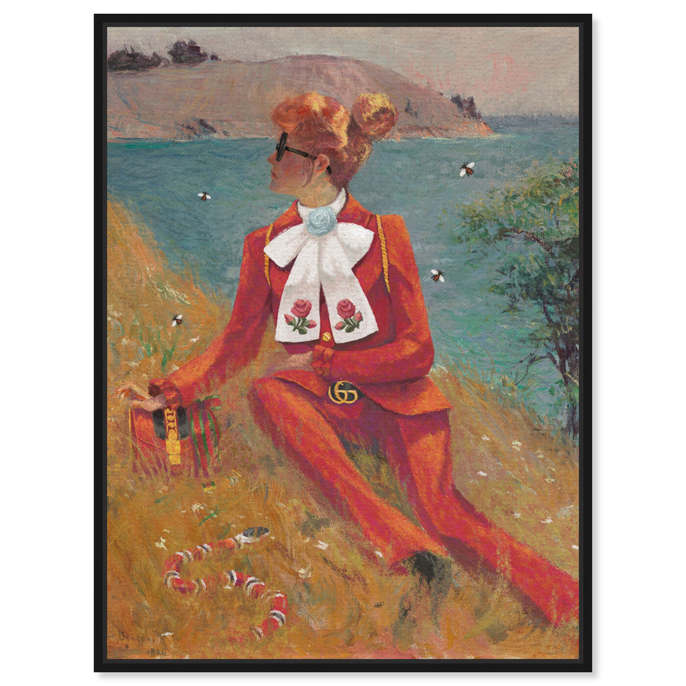 Front view of Woman in Red featuring fashion and glam and outfits art.