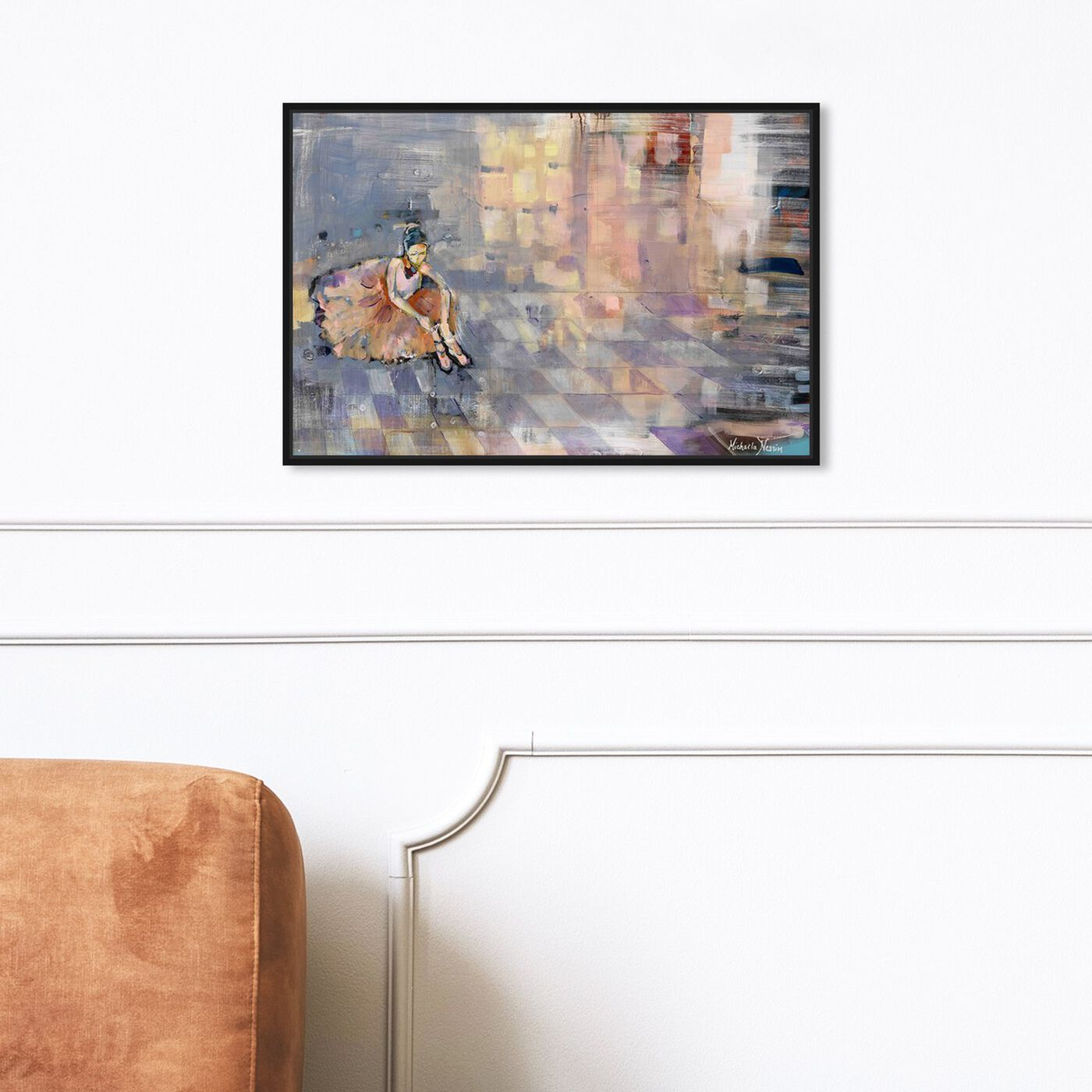 Hanging view of Michaela Nessim - Ballerina featuring sports and teams and ballet art.