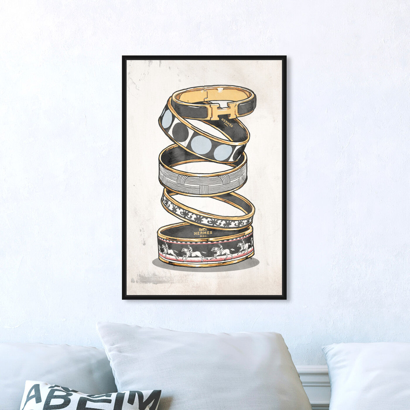 Hanging view of Arm Candy Noir featuring fashion and glam and jewelry art.