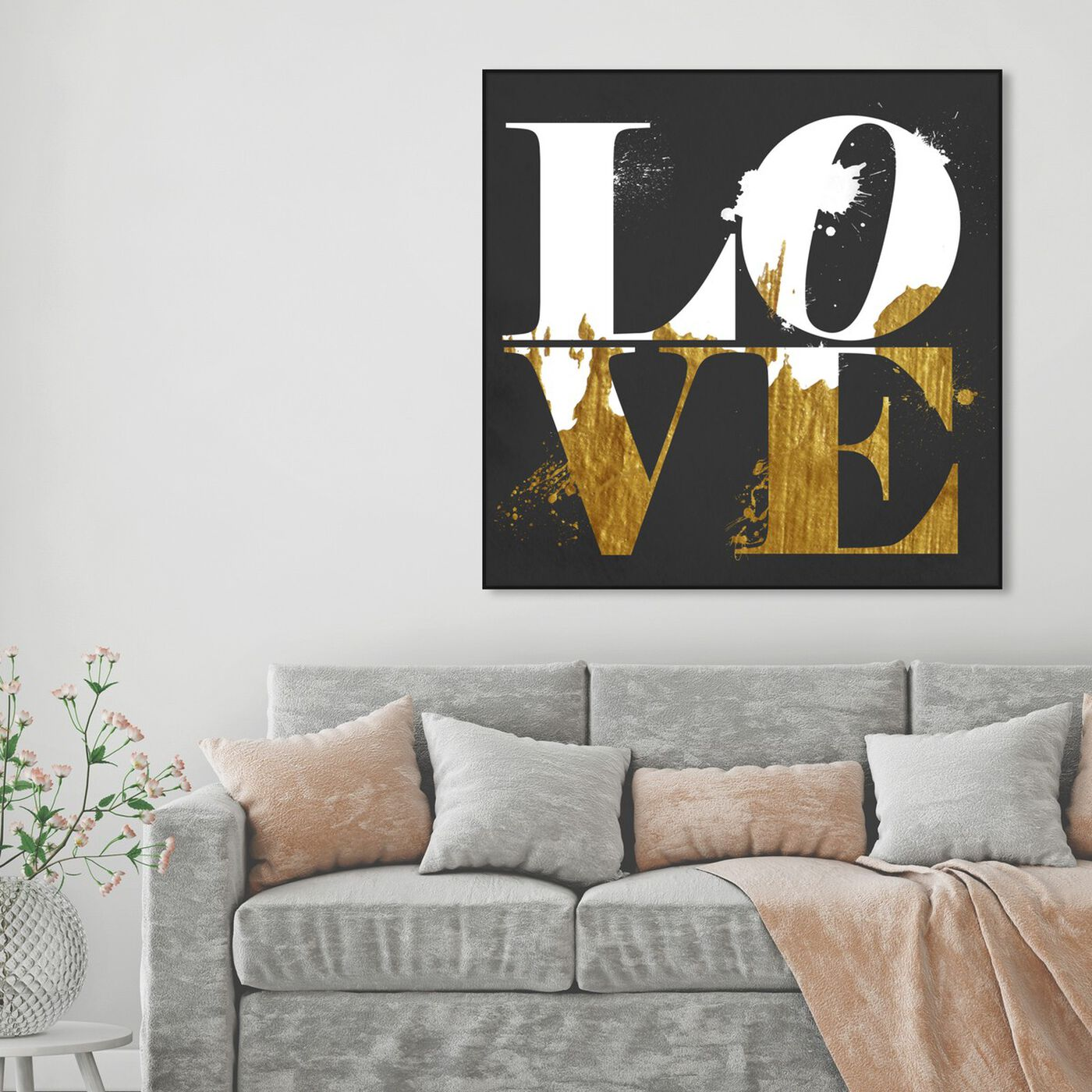 Hanging view of Real Love featuring typography and quotes and love quotes and sayings art.