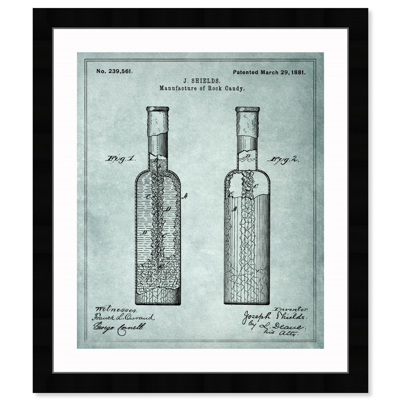 Front view of Manufacture Of Rock-Candy 1881 featuring drinks and spirits and liquor art.