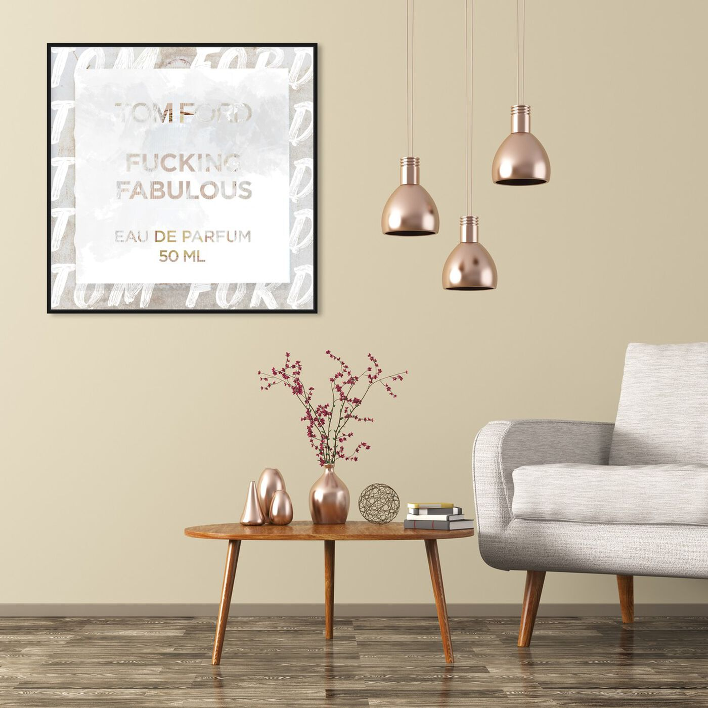 Hanging view of Fabulous Light featuring fashion and glam and road signs art.