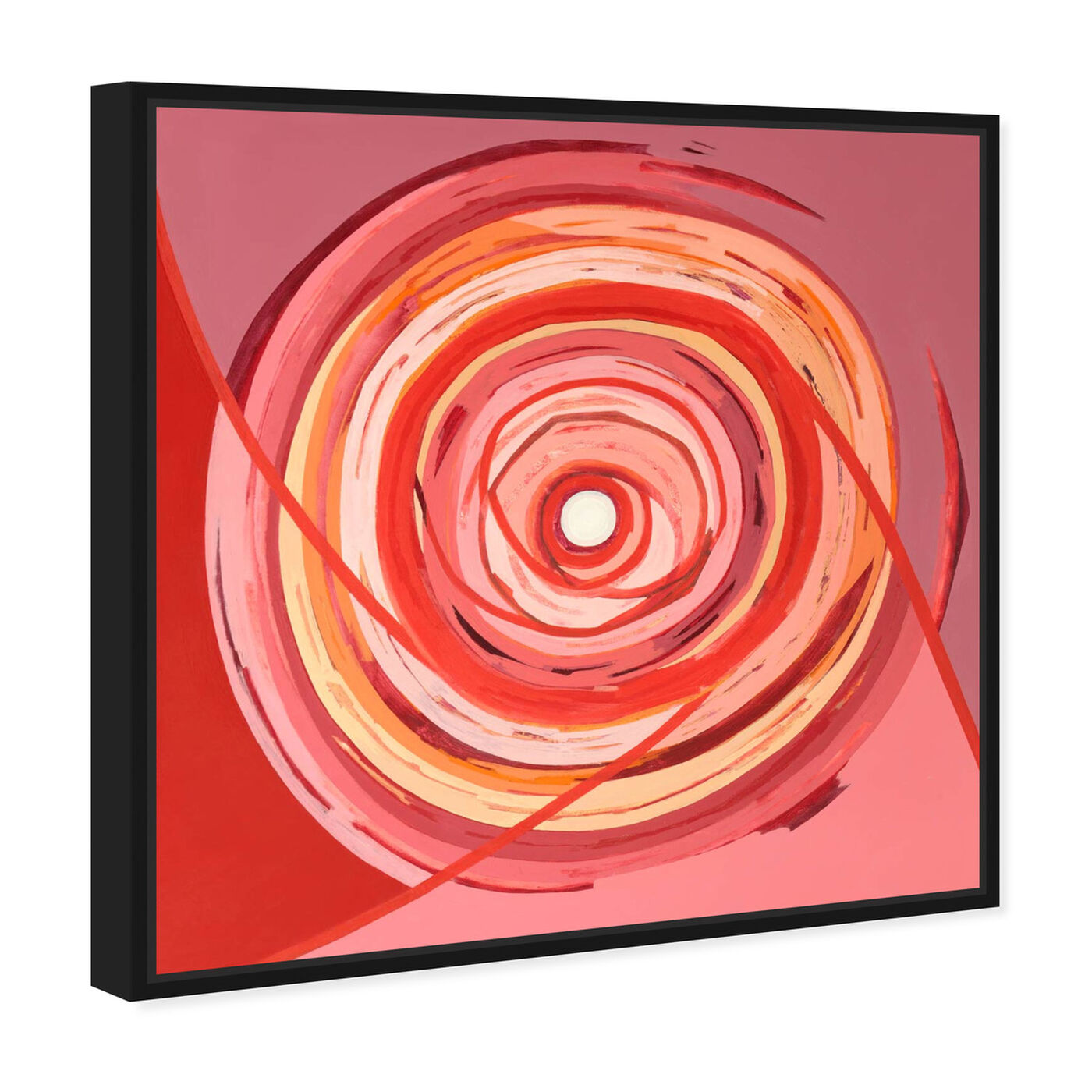 Angled view of Sai - Pictis Spiralis Rouge 1NM1759 featuring abstract and geometric art.
