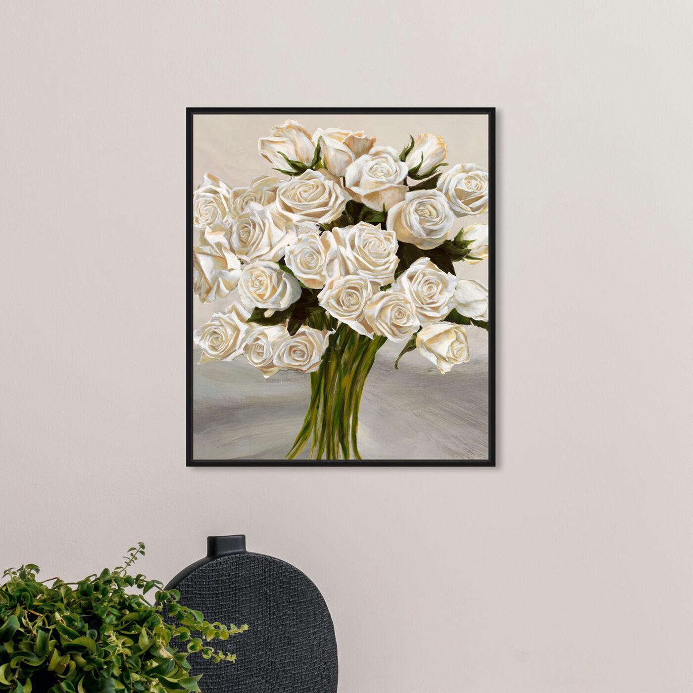 Hanging view of Sai - Ramos Del Rose 3LN3182 featuring floral and botanical and florals art.