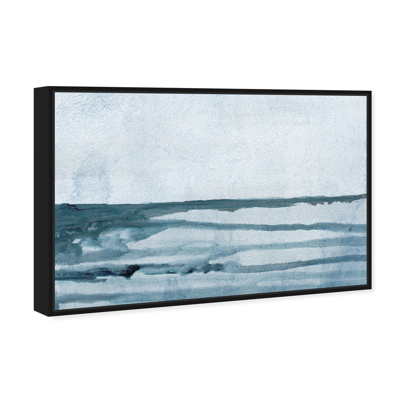Angled view of Washed Waves featuring abstract and paint art.
