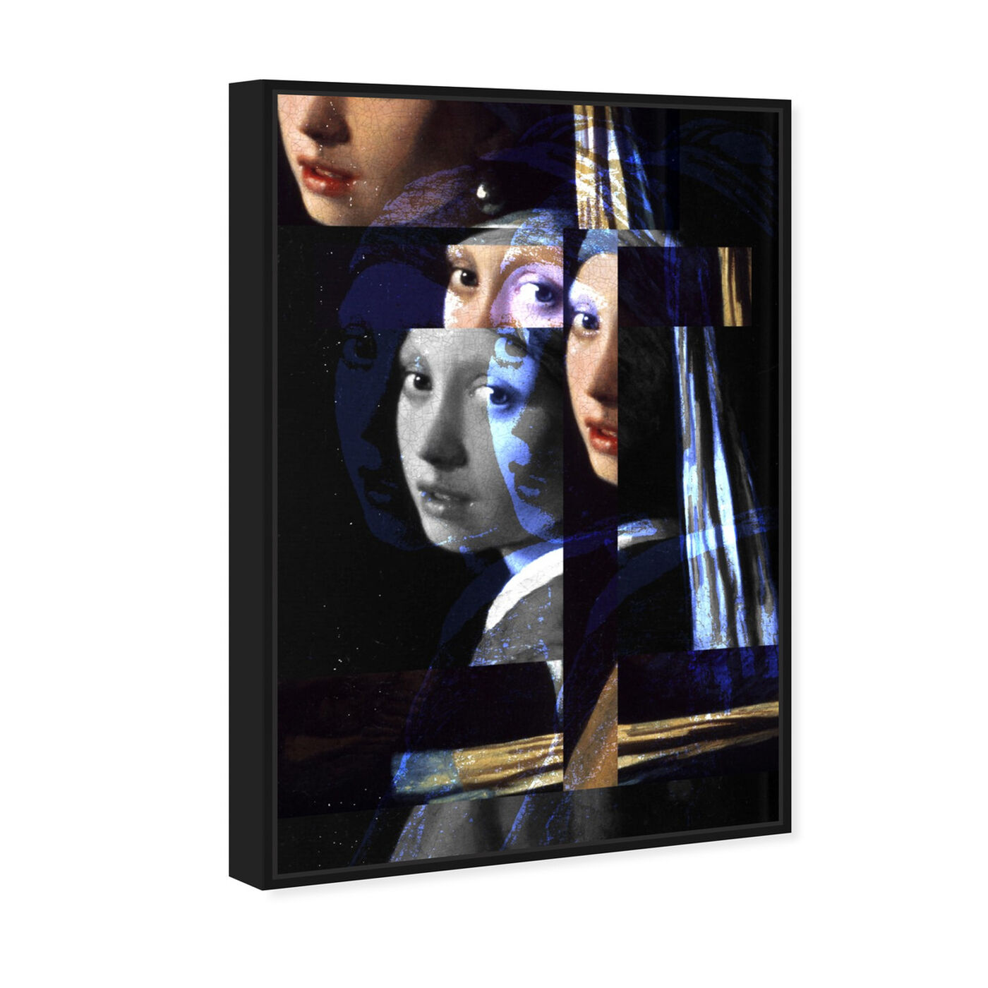 Angled view of Girl With The Pearl Earring Revised featuring classic and figurative and classical figures art.
