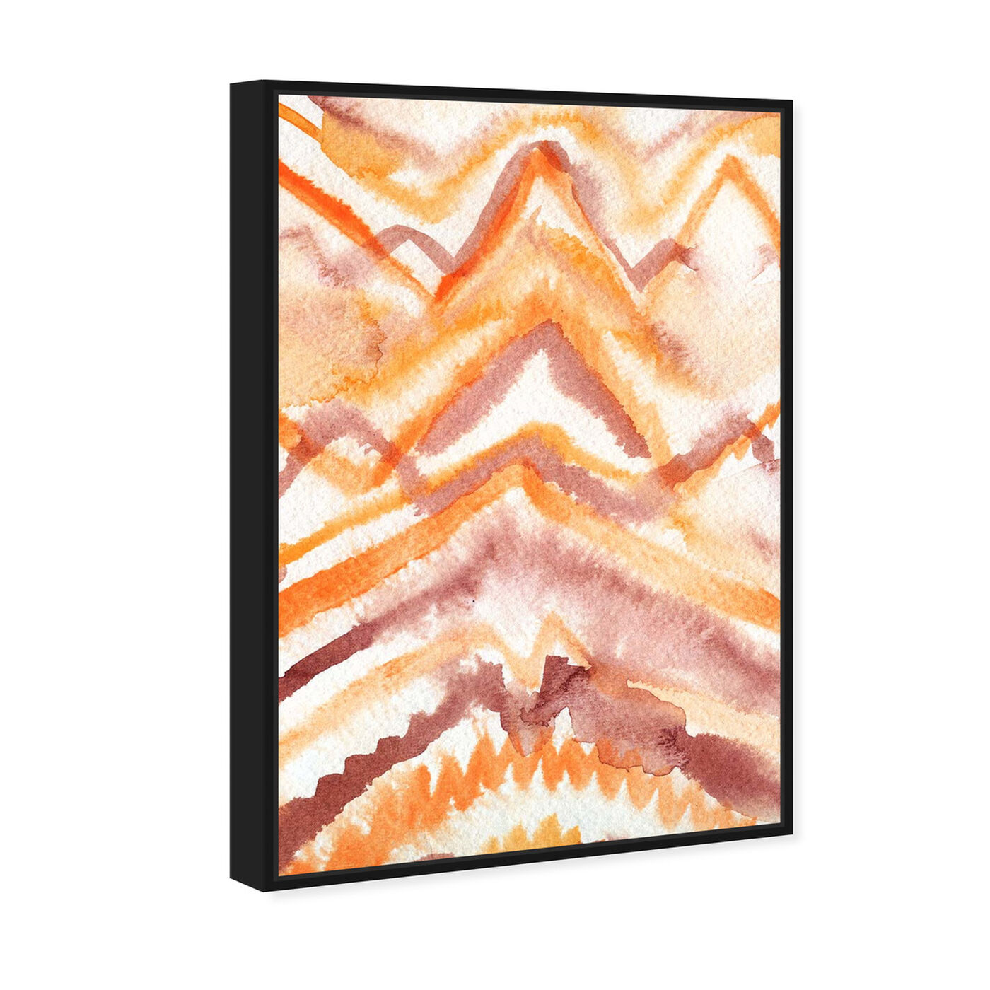 Angled view of Wild Sun Ray featuring abstract and watercolor art.
