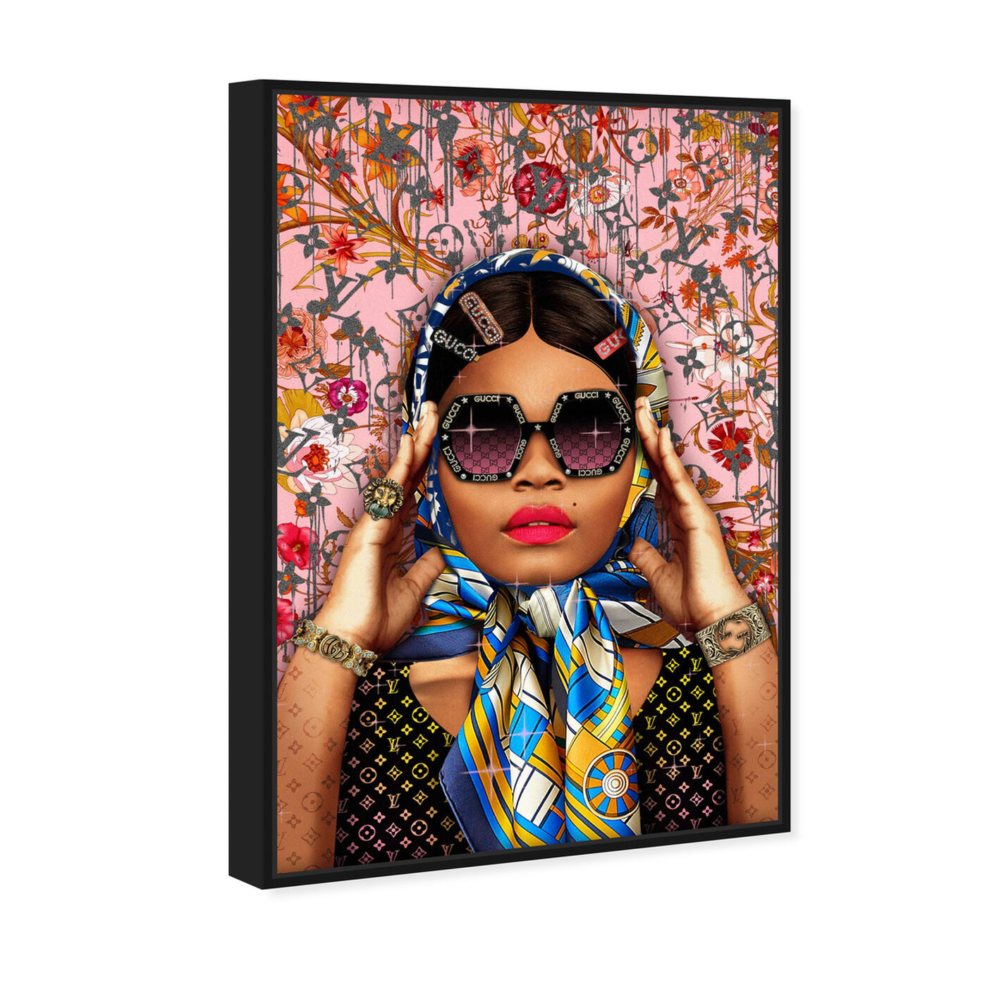 Angled view of Snap a picture featuring fashion and glam and portraits art.