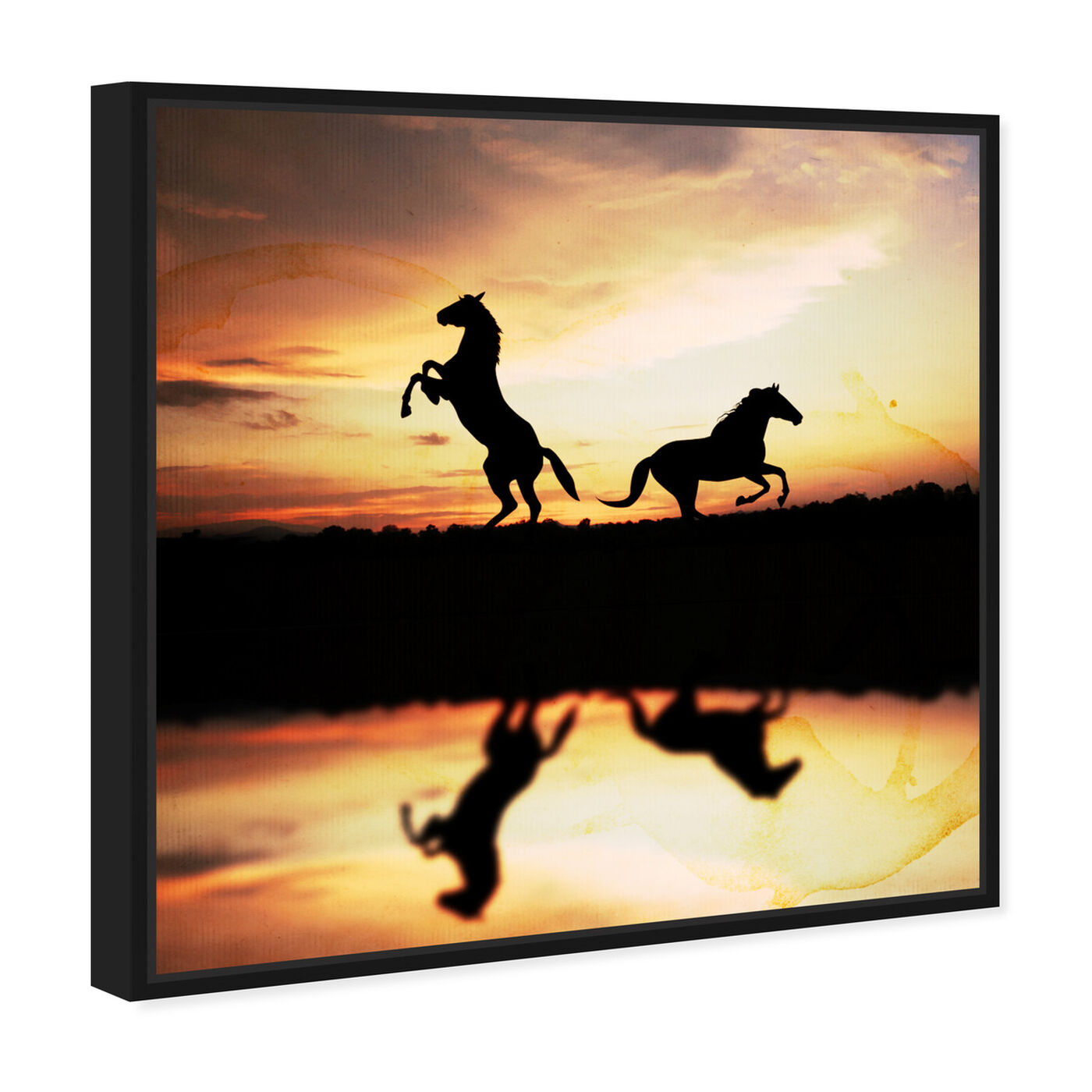 Angled view of Sunset West featuring animals and farm animals art.