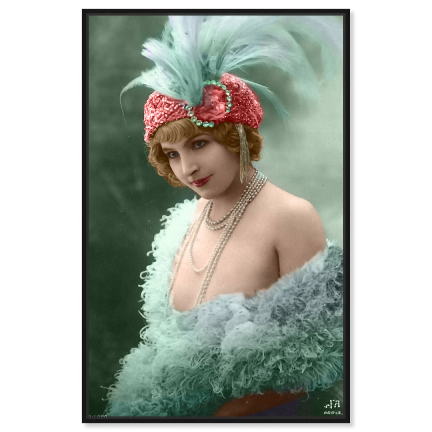 Front view of Vintage Dancer featuring classic and figurative and classical figures art.