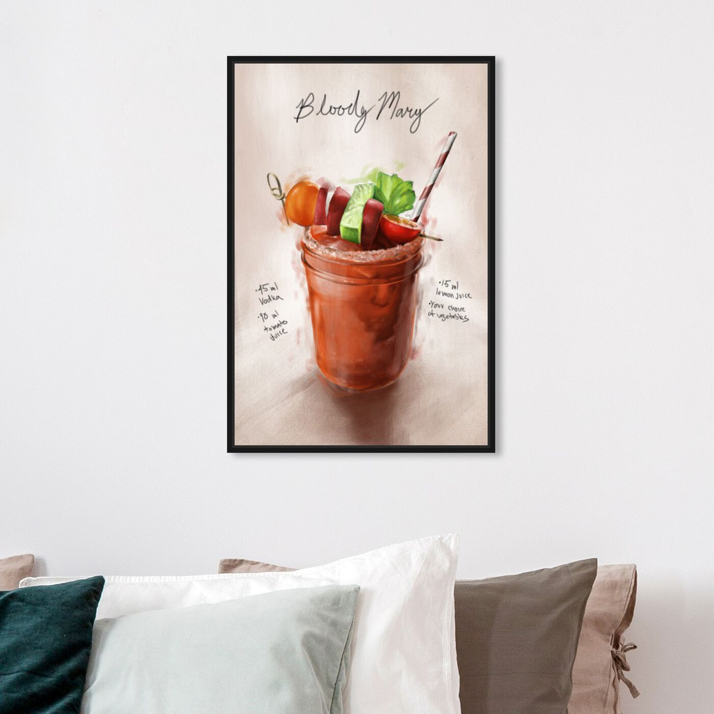 Hanging view of Bloody Mary featuring drinks and spirits and cocktails art.