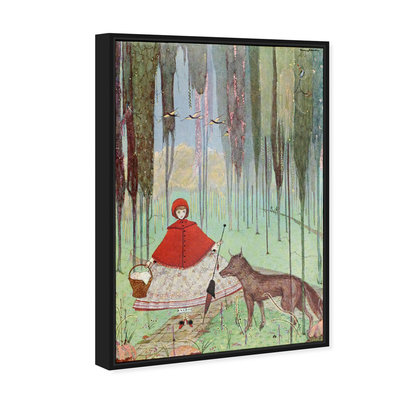 Angled view of Little Red Riding Hood featuring fantasy and sci-fi and fairy tales art.