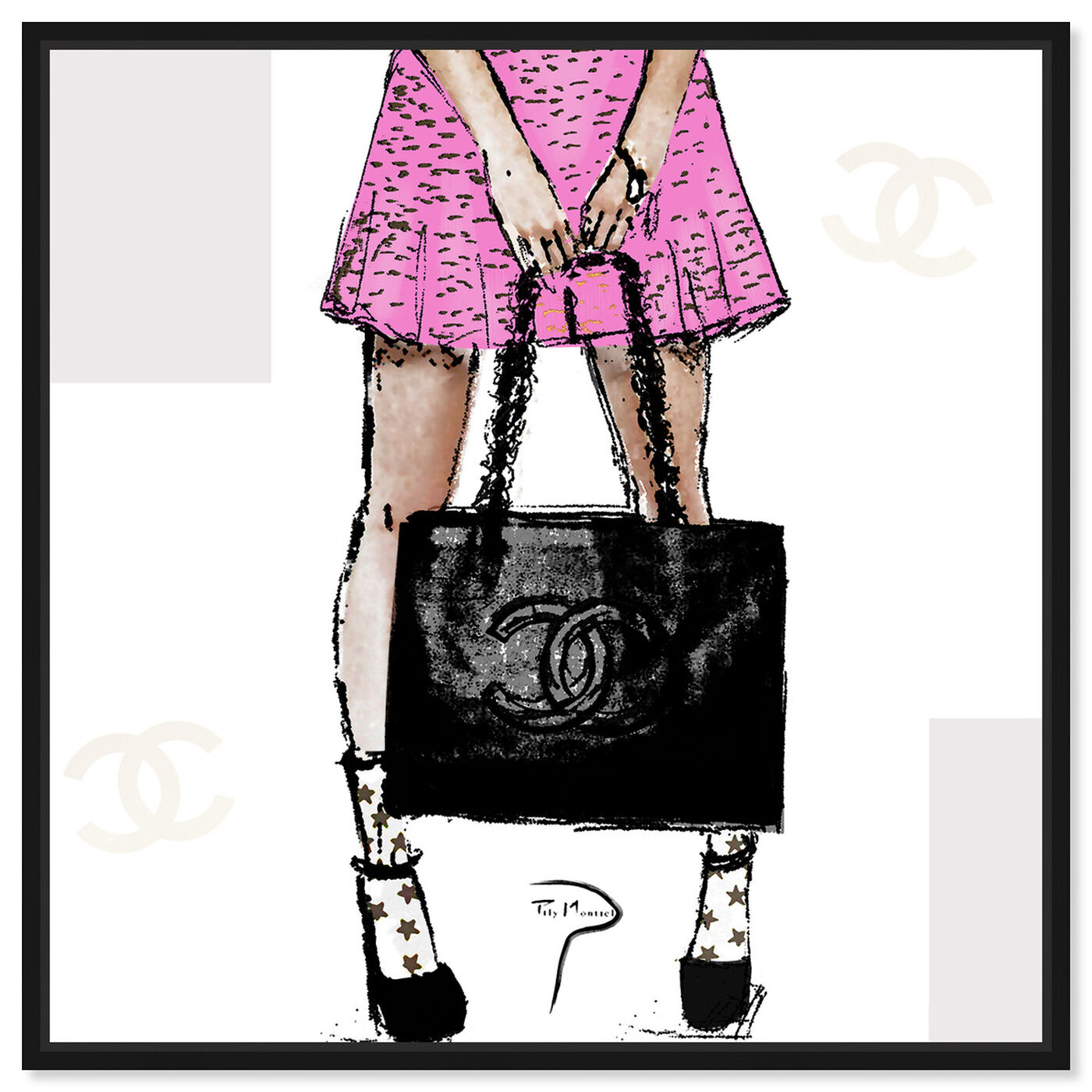 Front view of Pily Montiel - Tweed skirt featuring fashion and glam and outfits art.