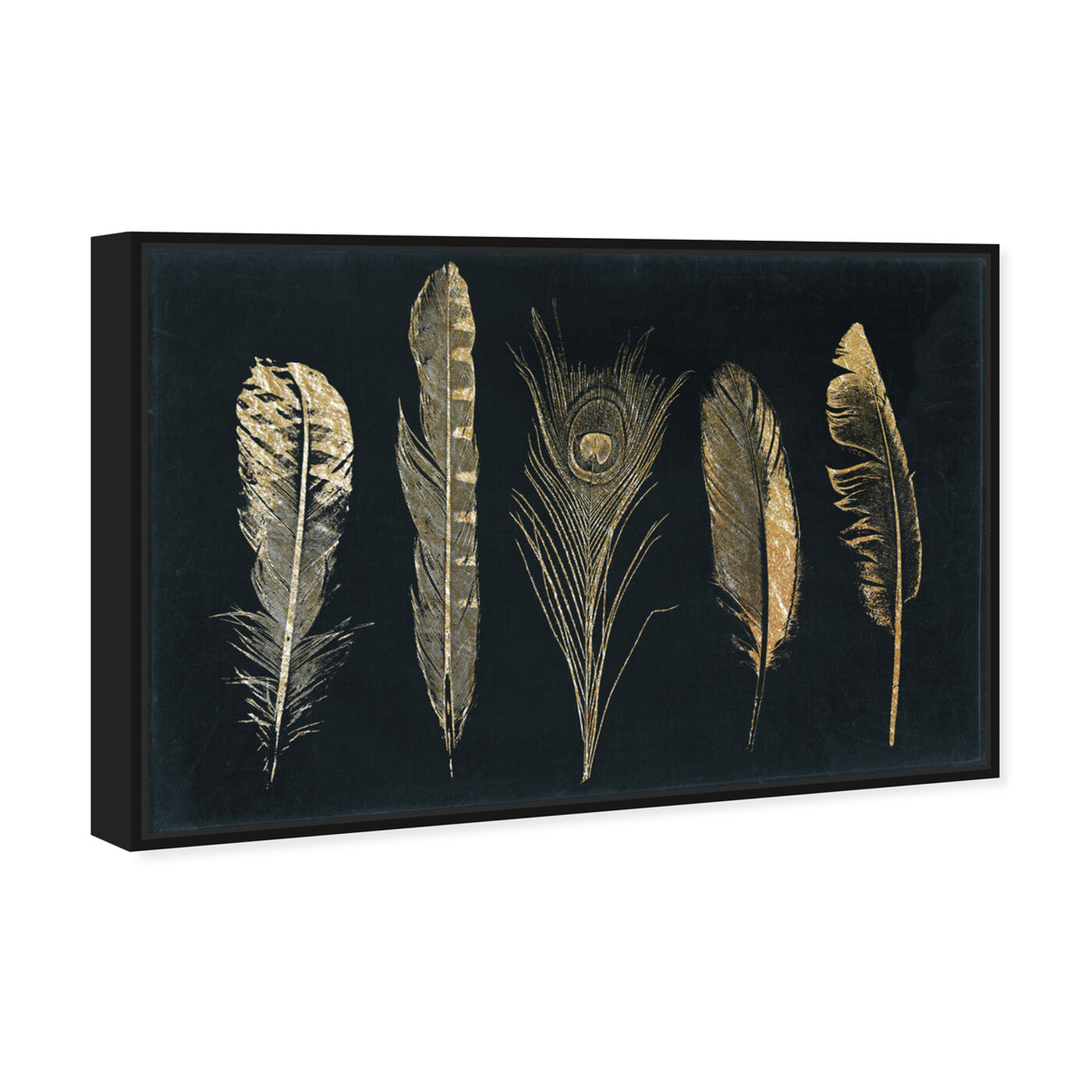 Angled view of Corinthian Feathers - Signature Collection featuring fashion and glam and feathers art.