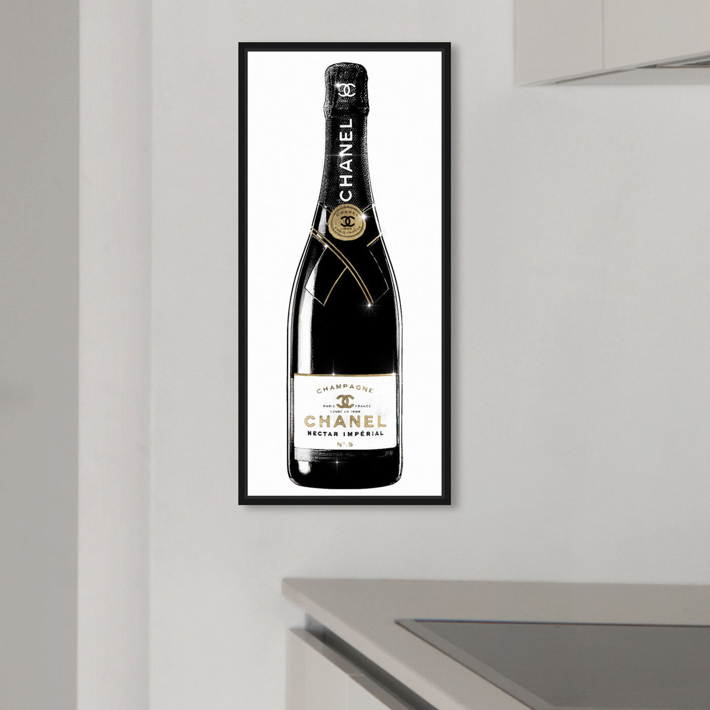 Hanging view of One of A Kind Champagne Tall featuring drinks and spirits and champagne art.