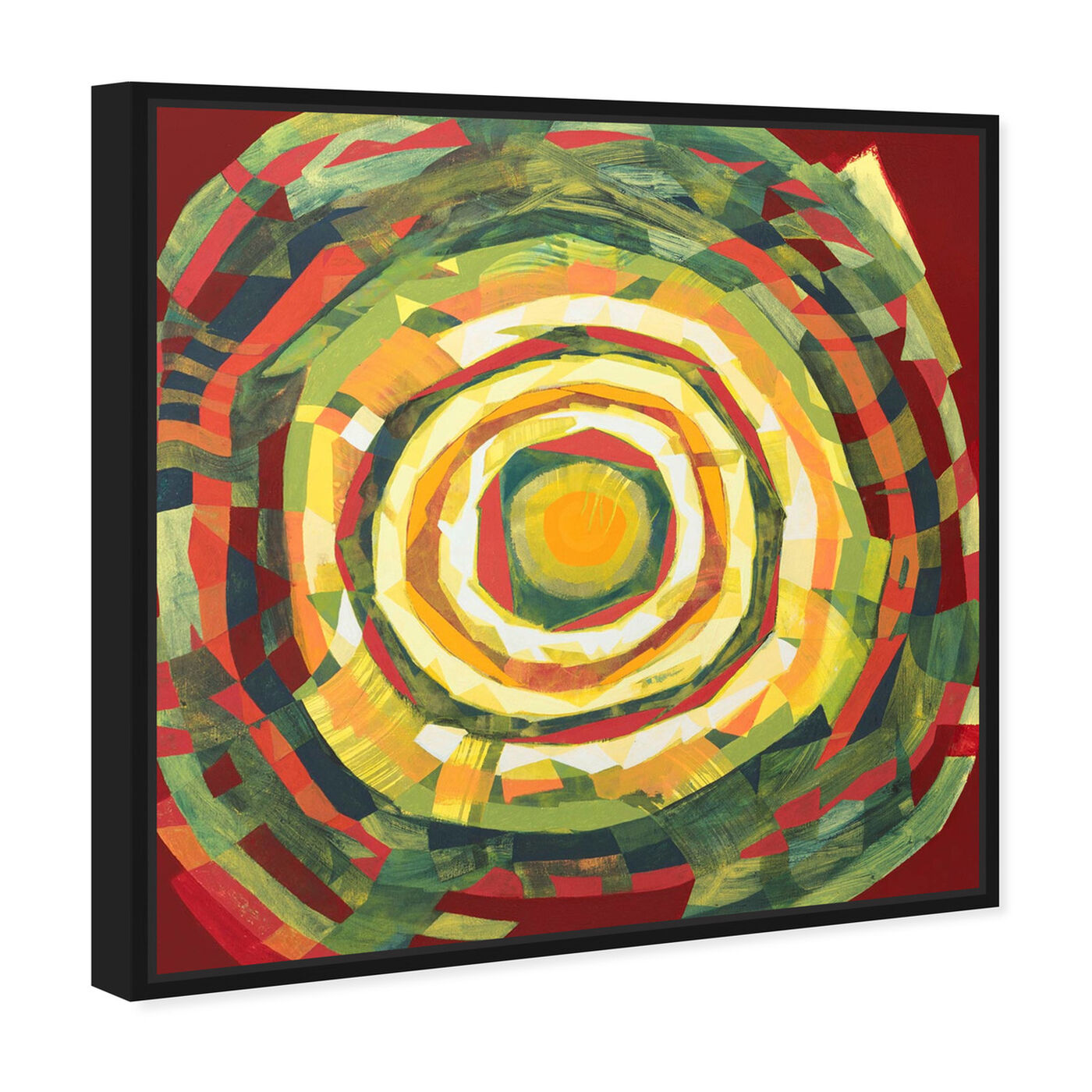 Angled view of Sai - Pictis Spiralis Natura 1NM1139 featuring abstract and geometric art.