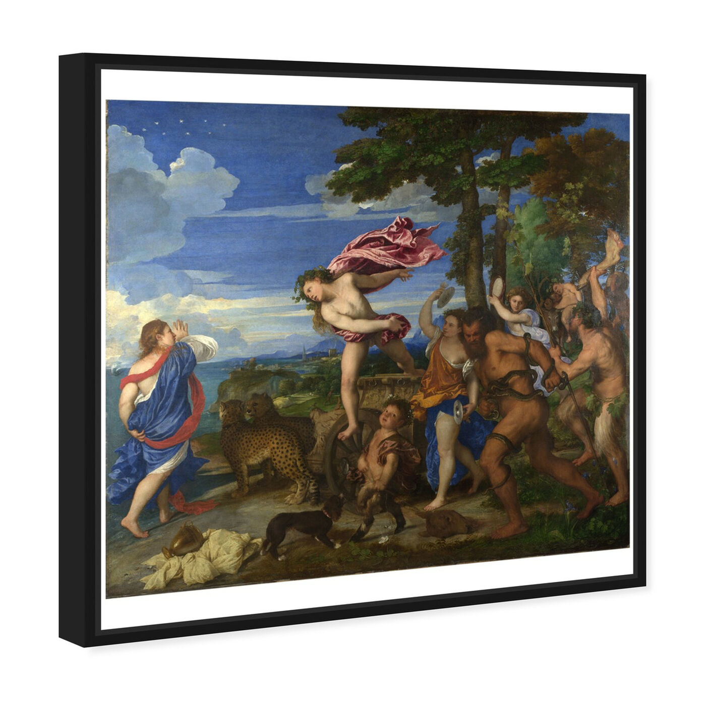 Angled view of Titian - Bacchus and Ariadne featuring classic and figurative and renaissance art.