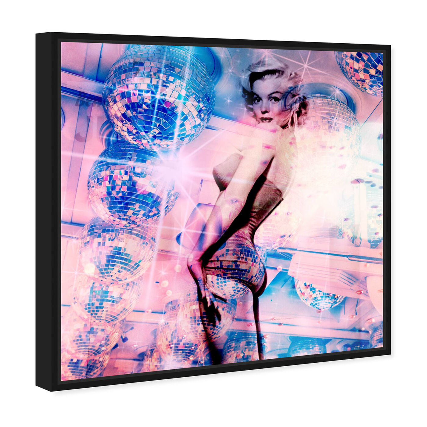 Angled view of Disco M featuring people and portraits and celebrities art.