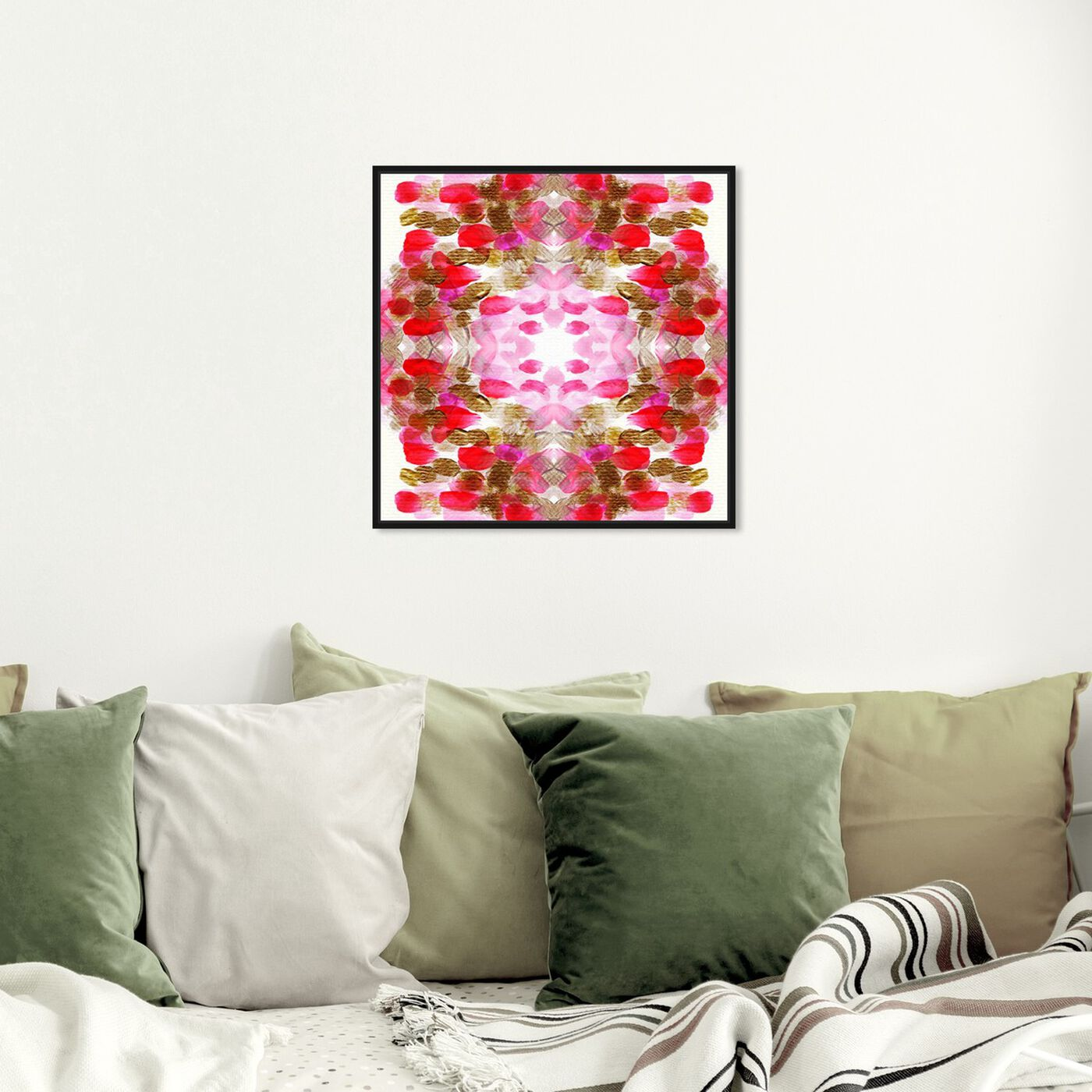 Hanging view of Pomegranate  featuring abstract and paint art.