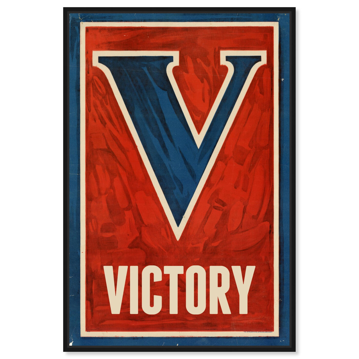 Front view of Victory featuring typography and quotes and letters and calligraphy art.