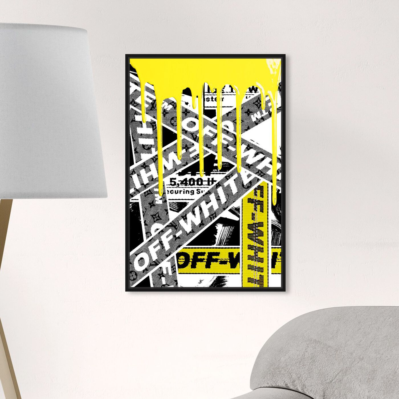 Hanging view of Not Art But Yellow OFF Art featuring fashion and glam and lifestyle art.