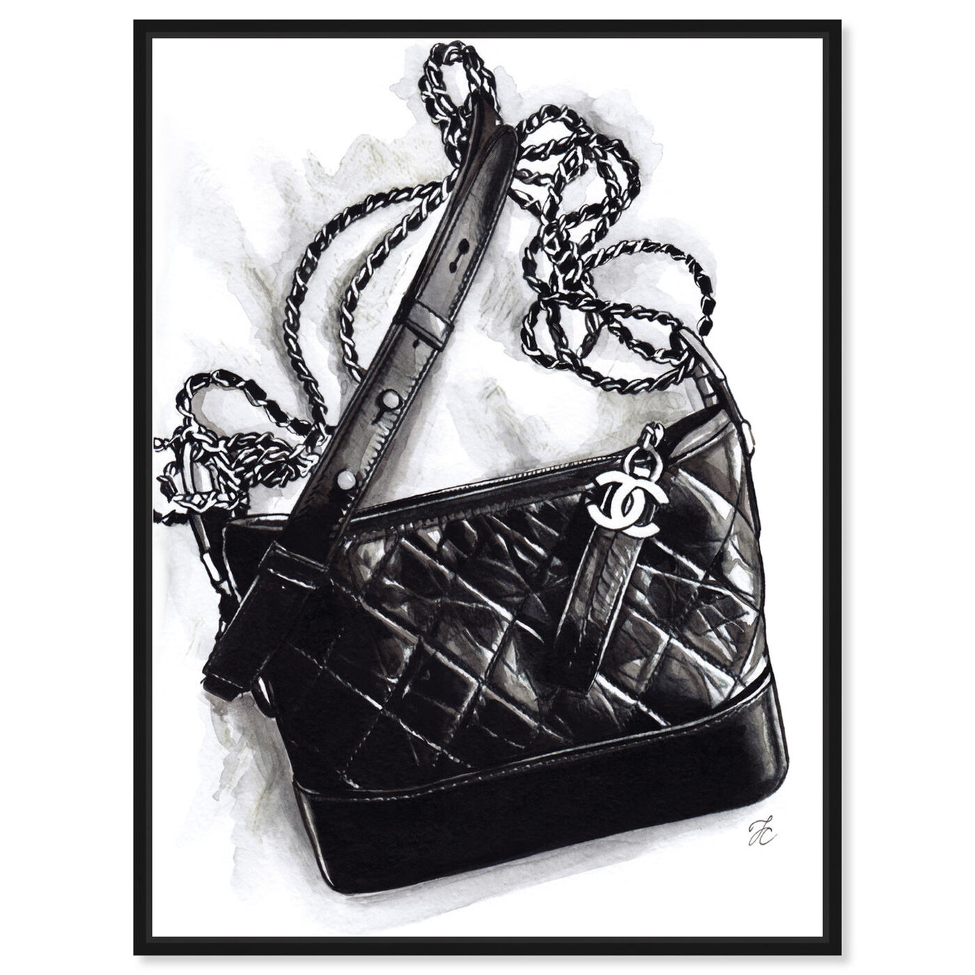 Front view of Doll Memories - Gabrielle Handbag featuring fashion and glam and handbags art.