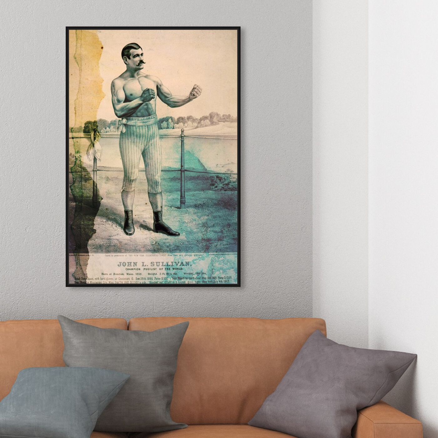 Hanging view of Pugilist featuring sports and teams and boxing art.