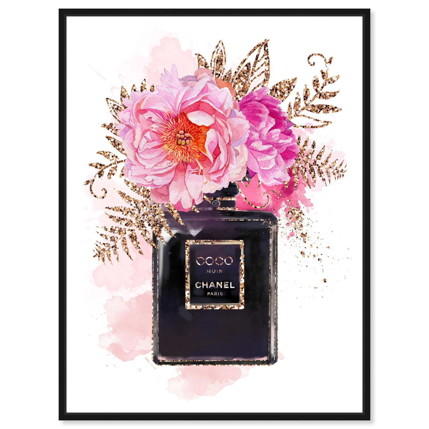 Front view of Bottled Floral Scent featuring fashion and glam and perfumes art.
