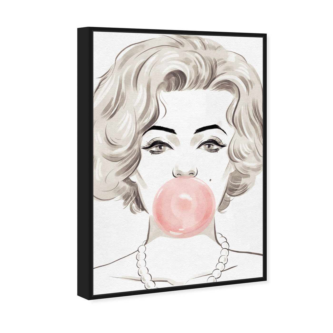 Angled view of Bubblegum Beauty featuring fashion and glam and portraits art.